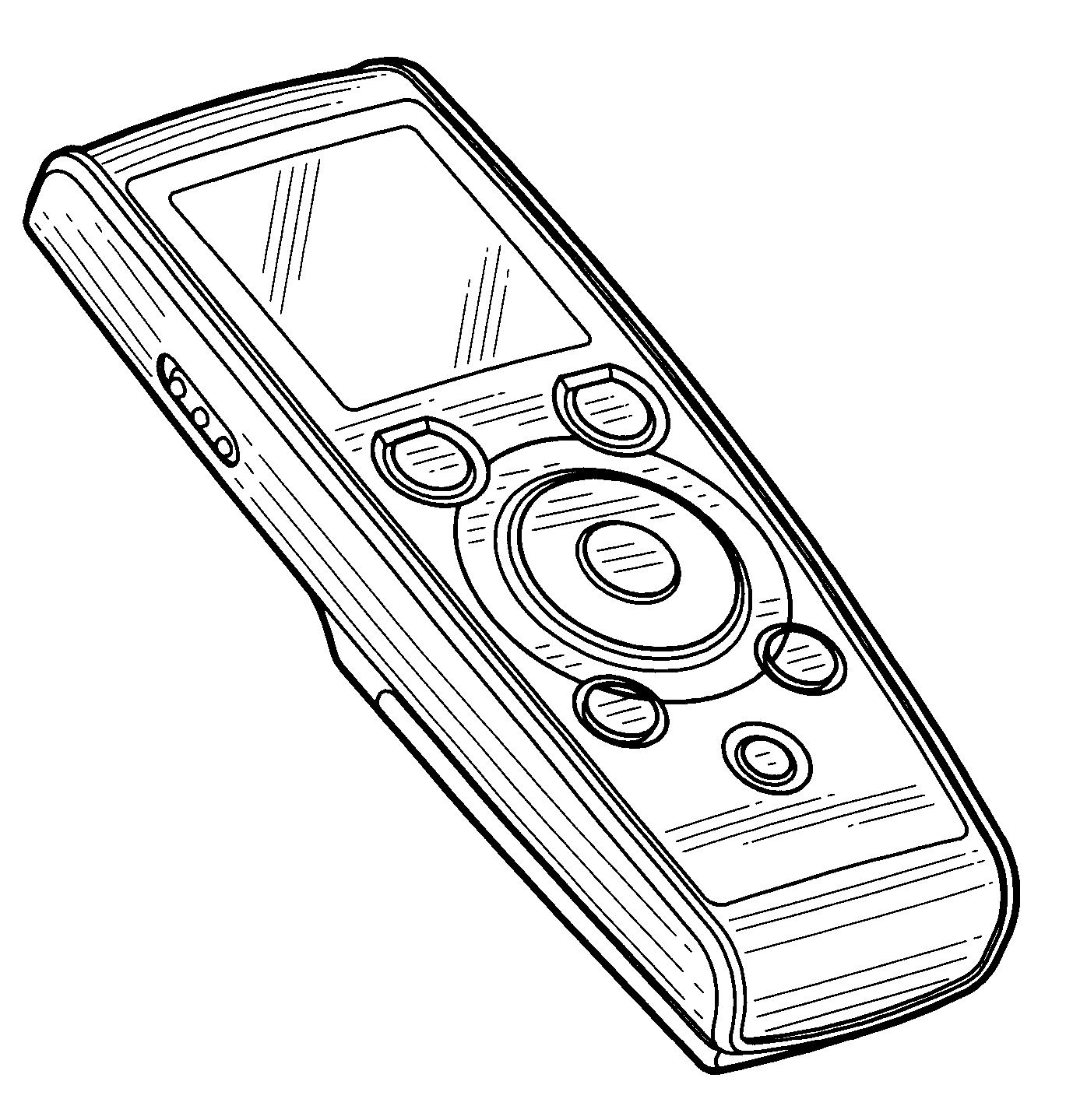 patent usd538779 - digital voice recorder