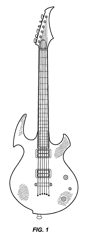 吉他手绘彩色图片