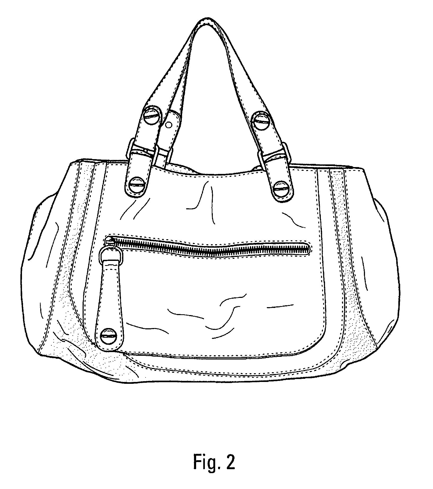 手提包的简笔画-简笔画 手袋 挎包 包包