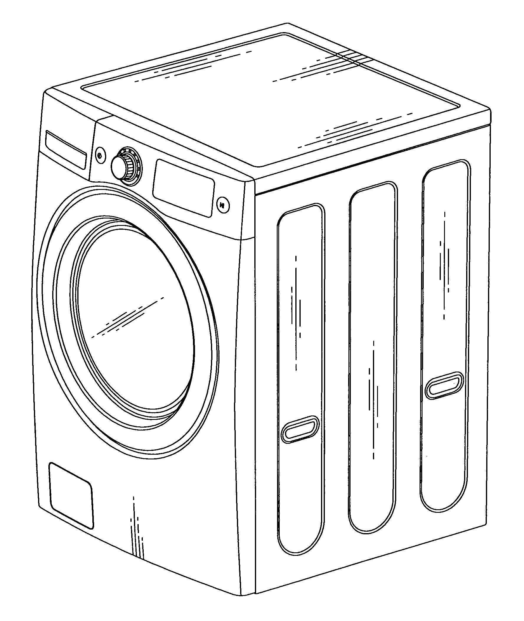 Washing Machine Drawing ~ Patent usd washing machine google patents