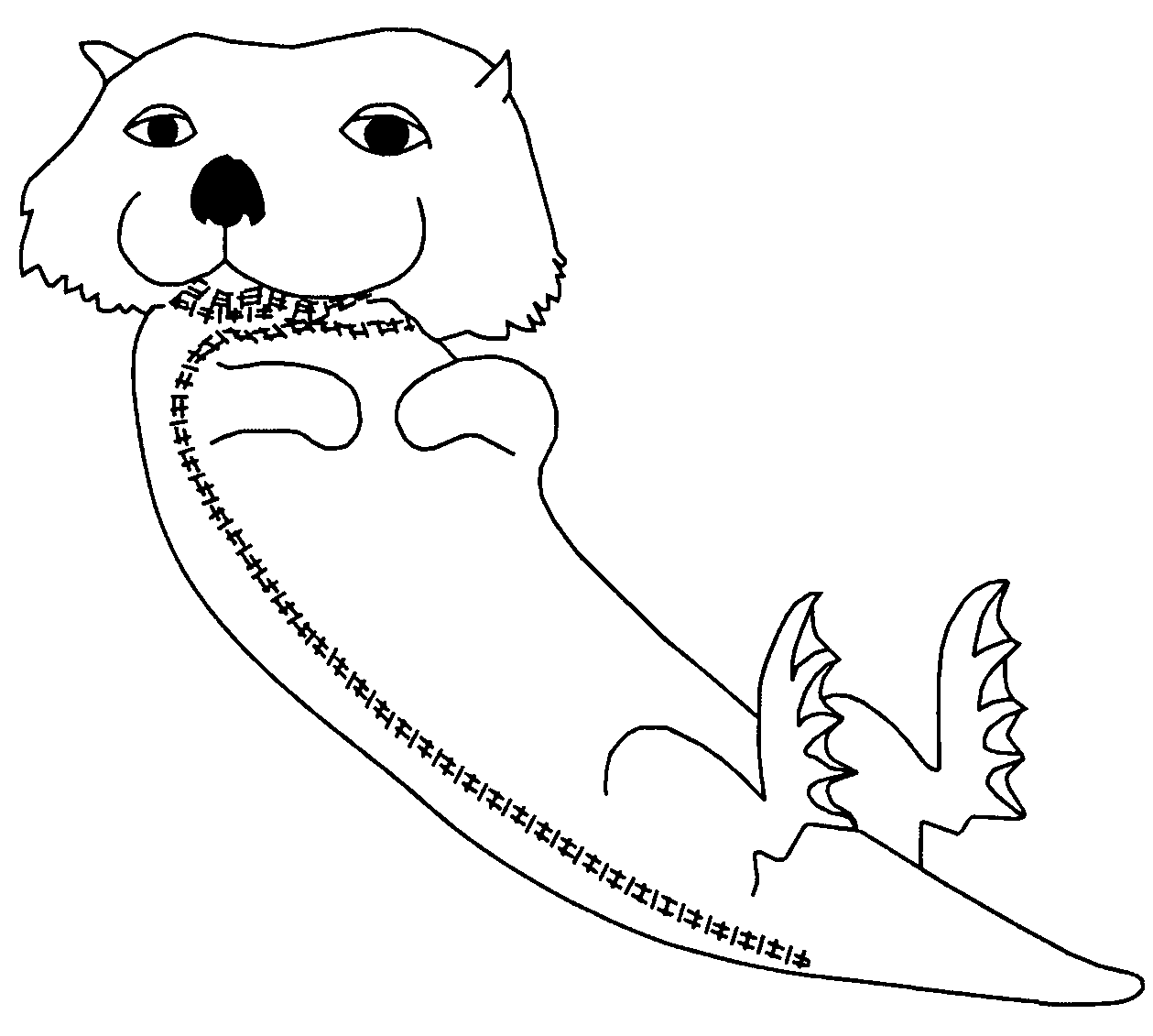Pic Otter Colouring Pages Otter Coloring Pages