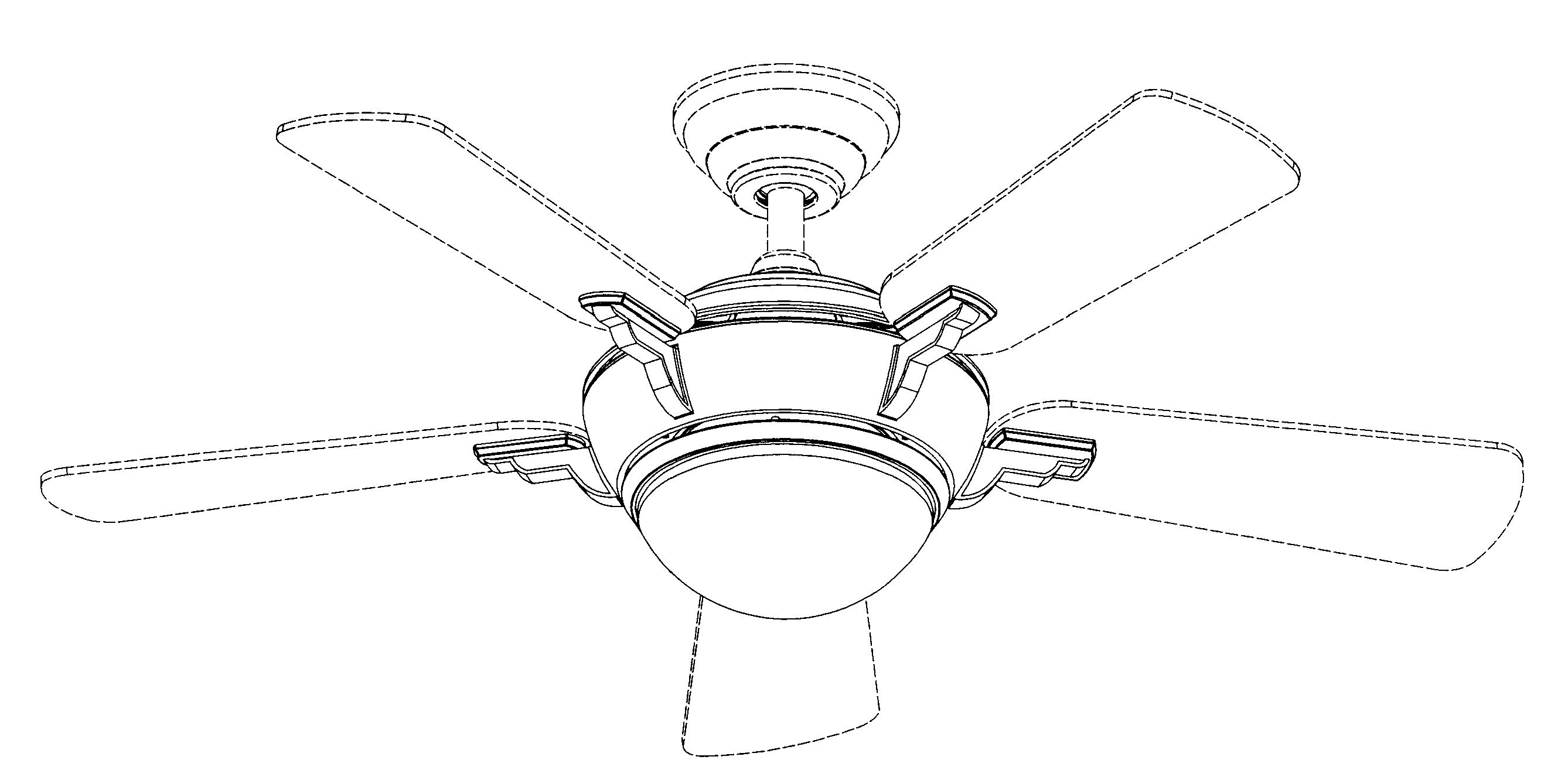 Patent USD607096 Combined Ceiling Fan And Light Fixture