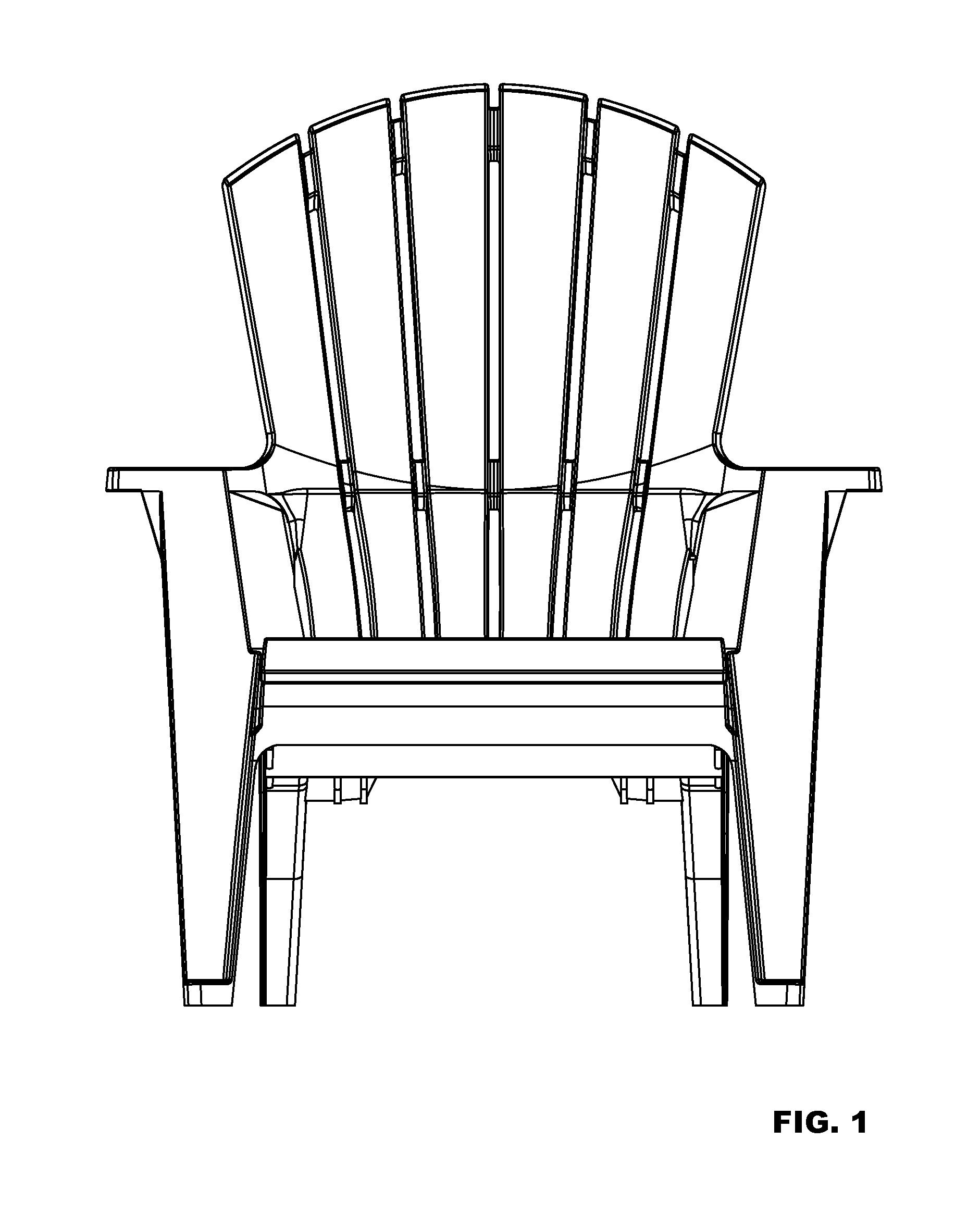 adirondack chair silhouette, Hause und Garten