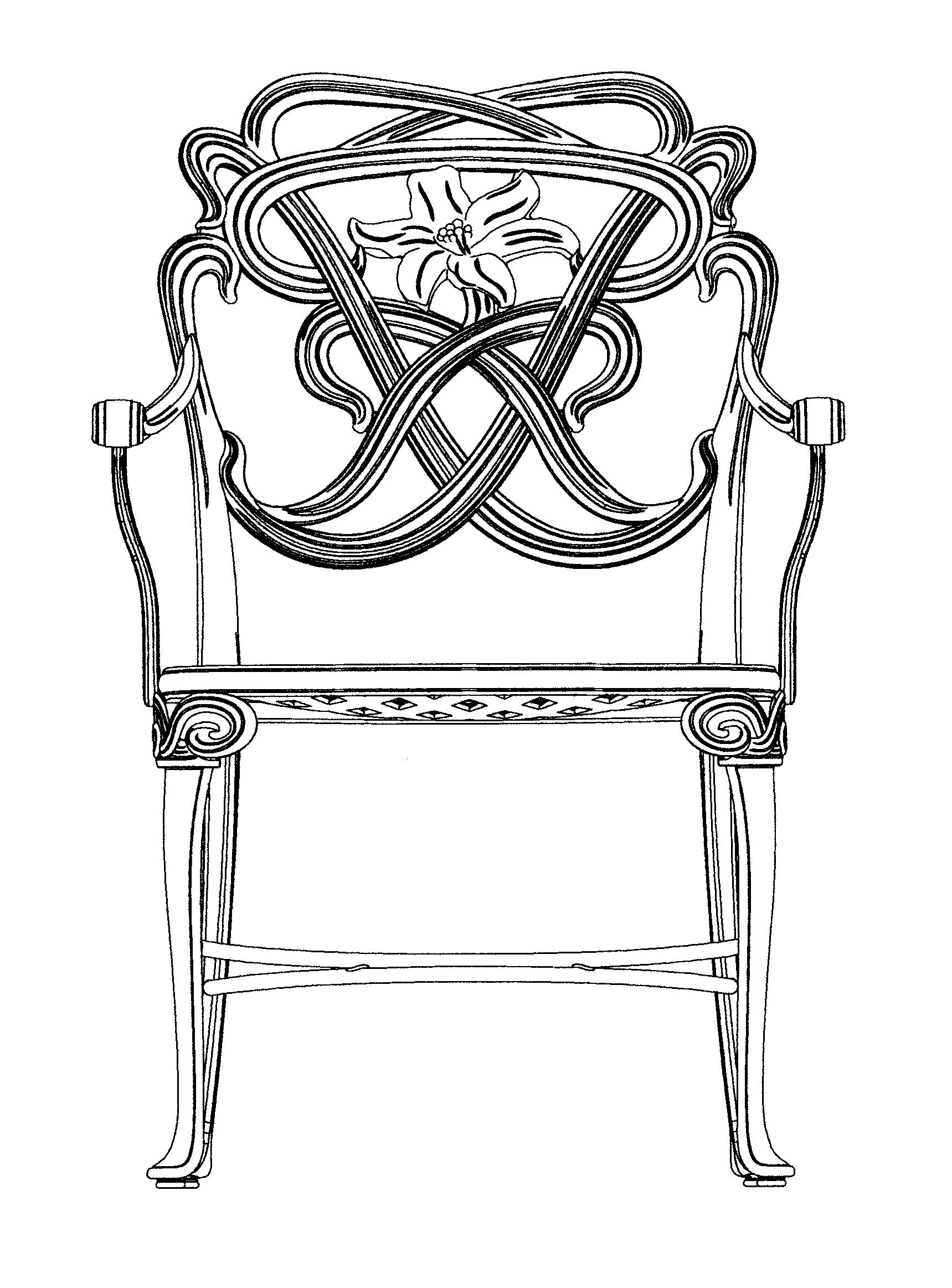 家具 简笔画 手绘 线稿 椅 椅子 1719_2325 竖版 竖屏