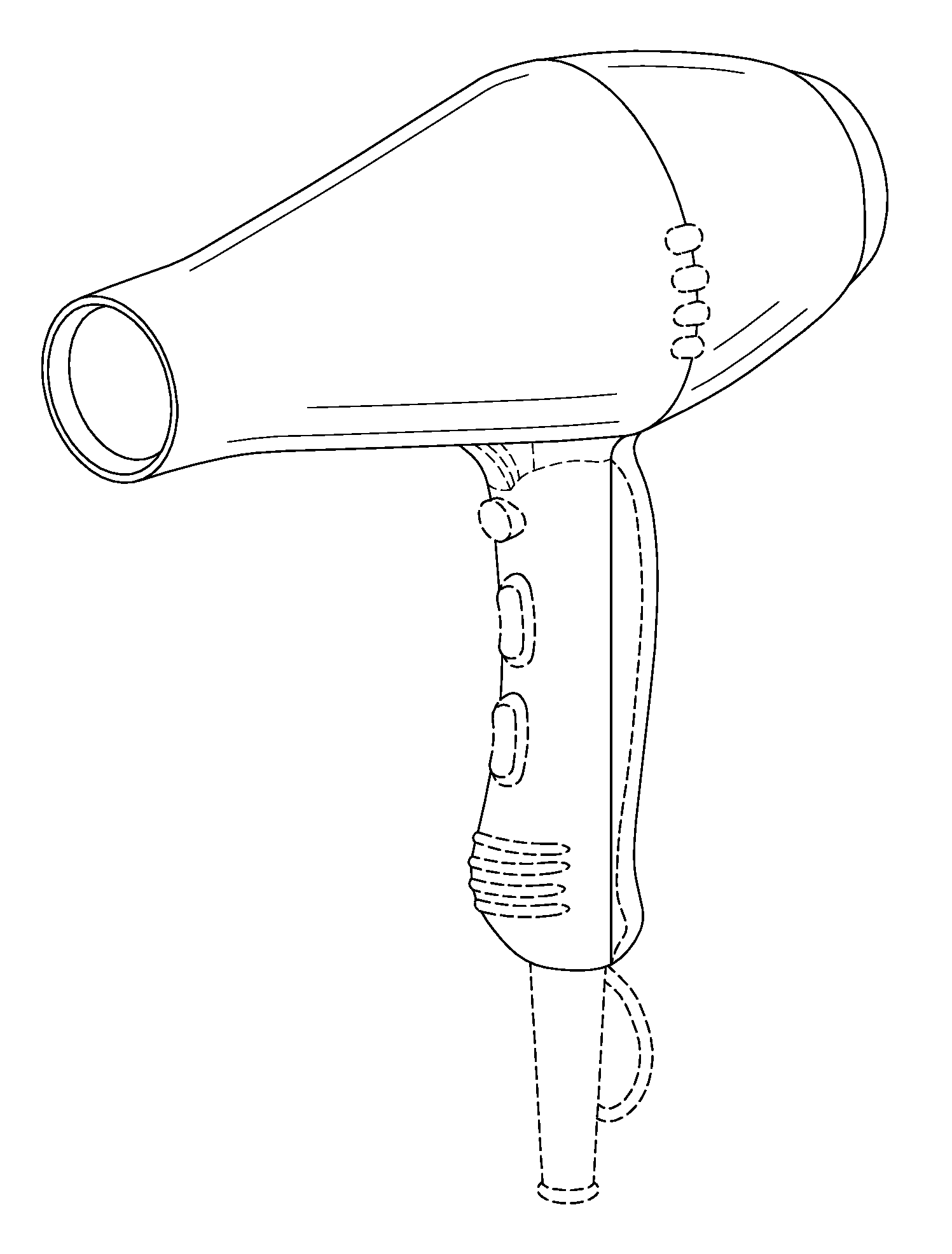 Hair Dryer Drawing ~ Patent usd hair dryer google patents