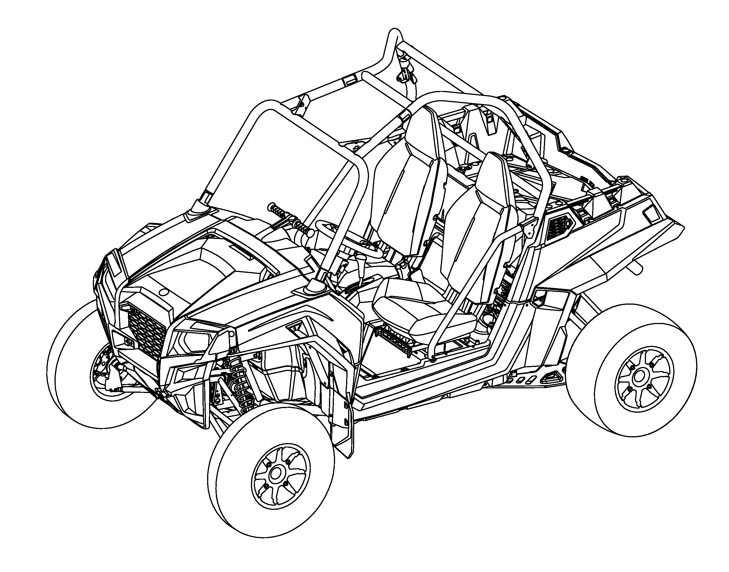 all terrain vehicle coloring pages - photo#9
