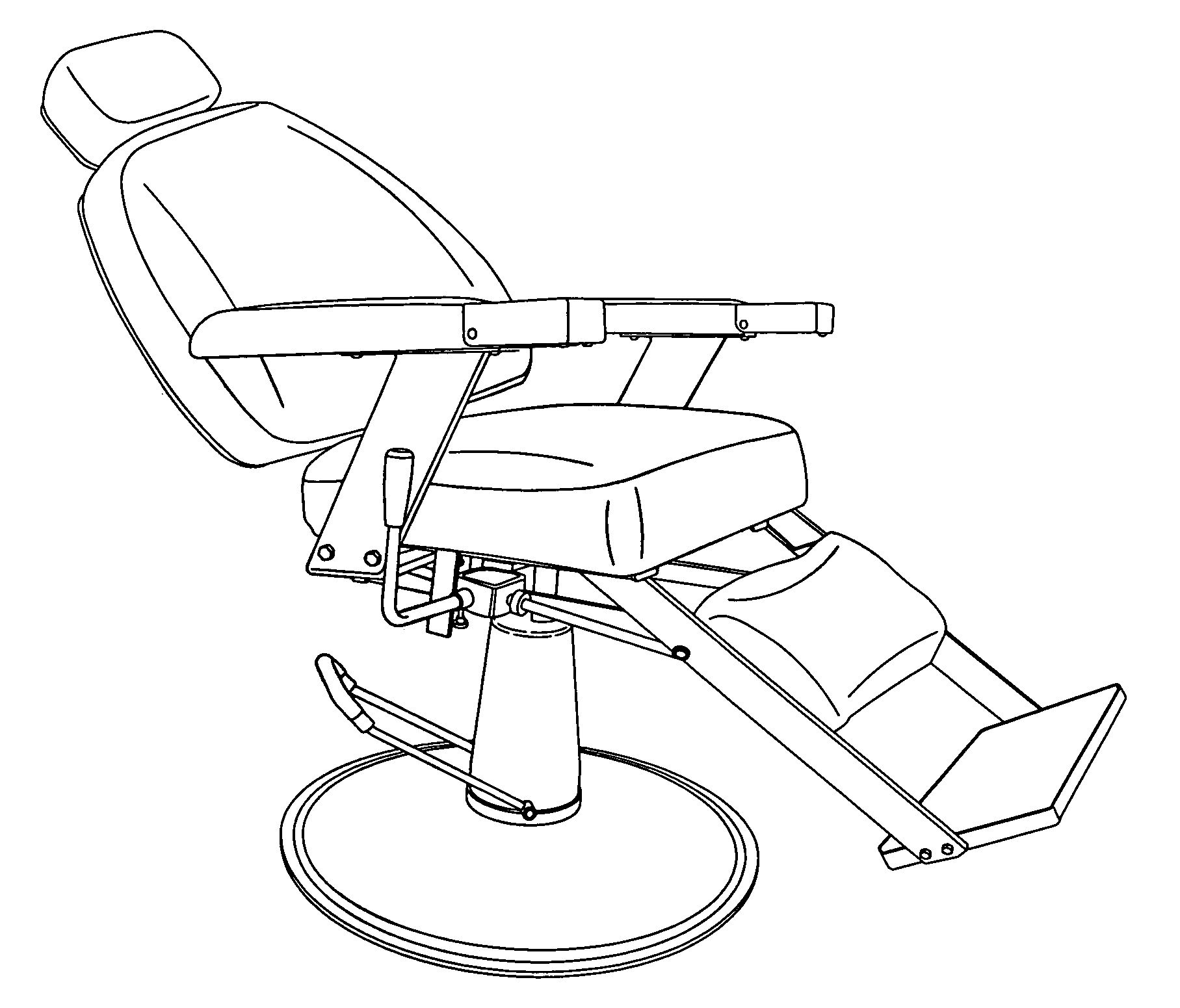 Barber chairs drawing - Patent Drawingbarber Chair Drawing
