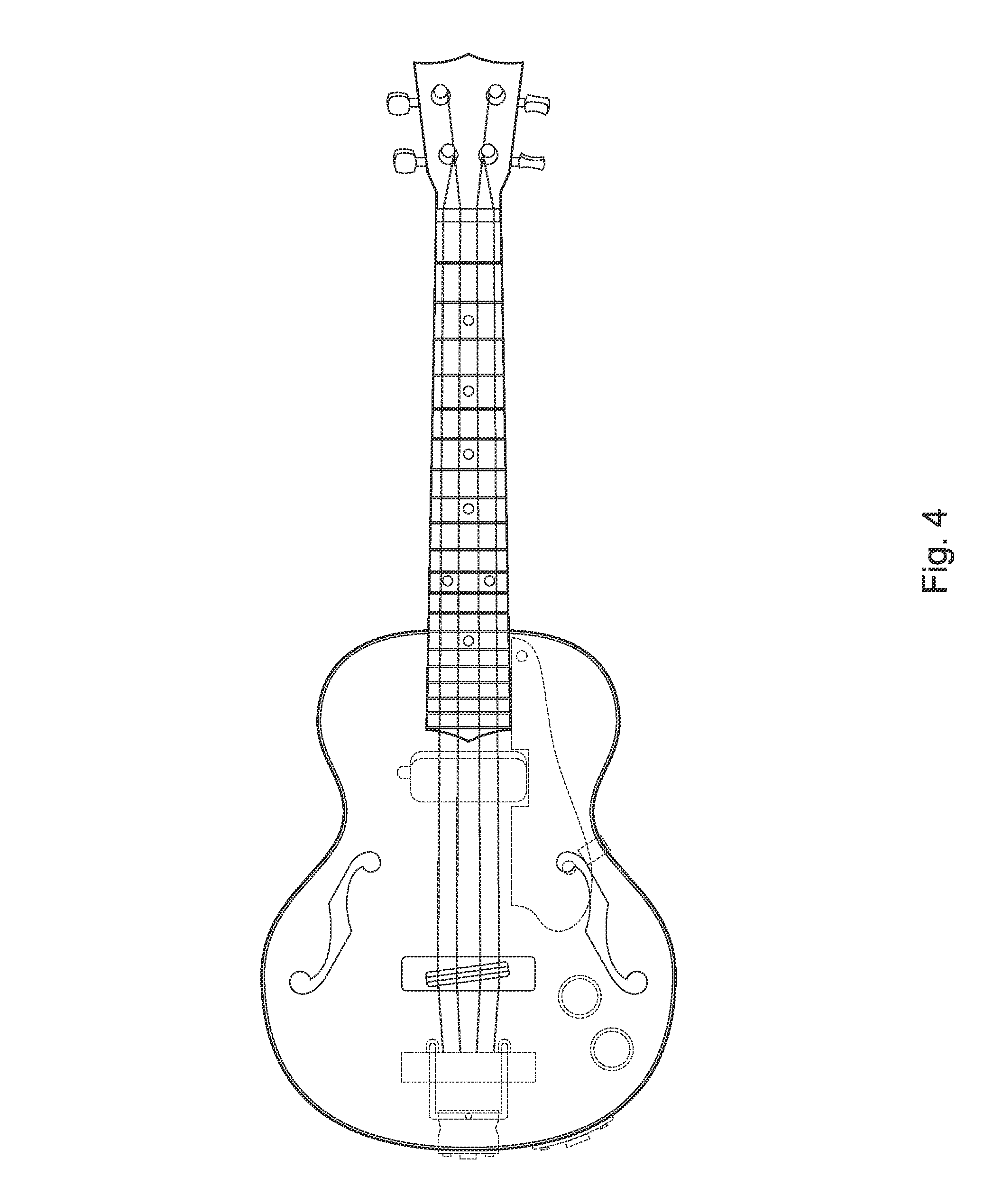 patent usd671592 - electric ukulele