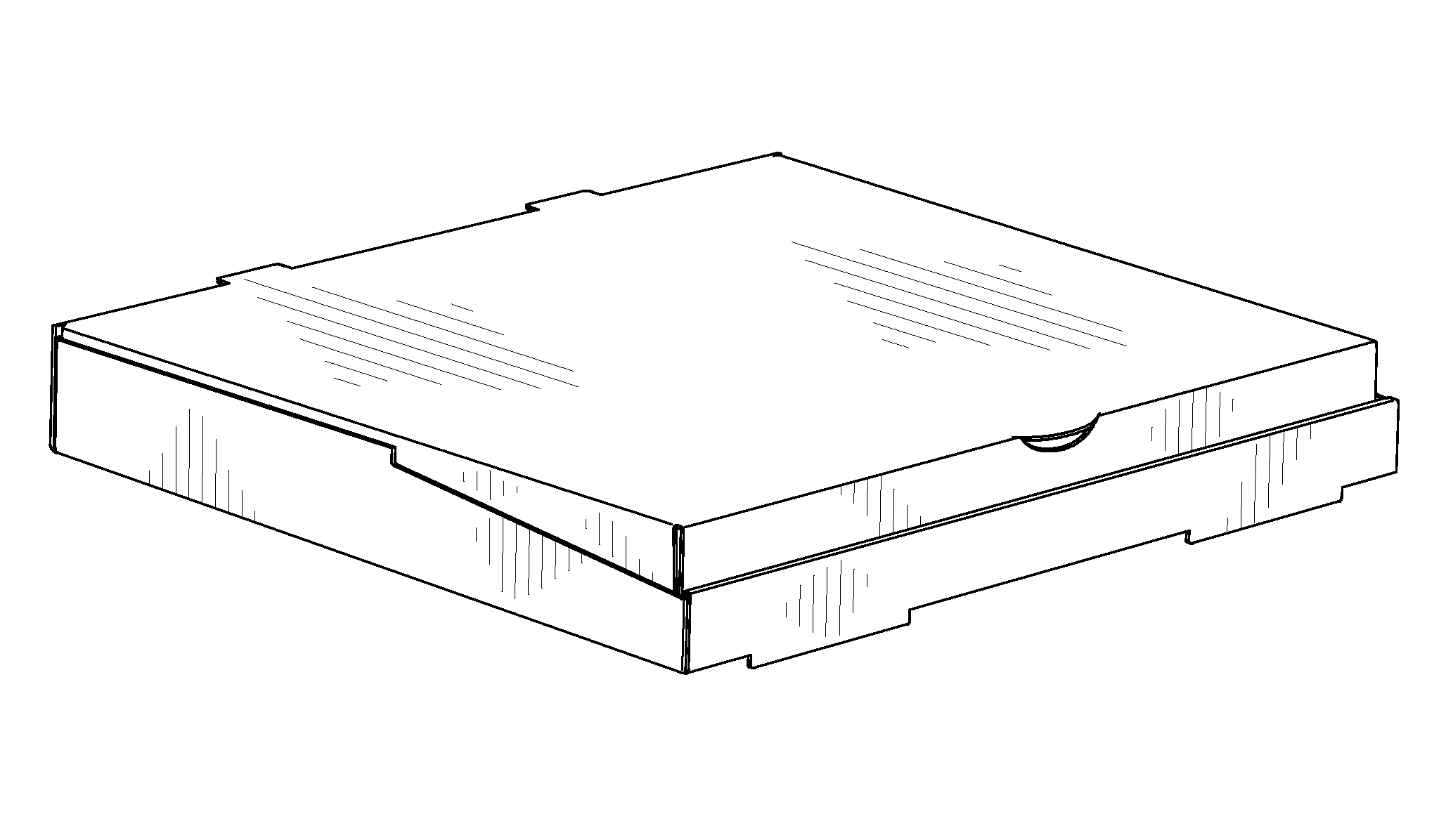 patent usd681452 - pizza box