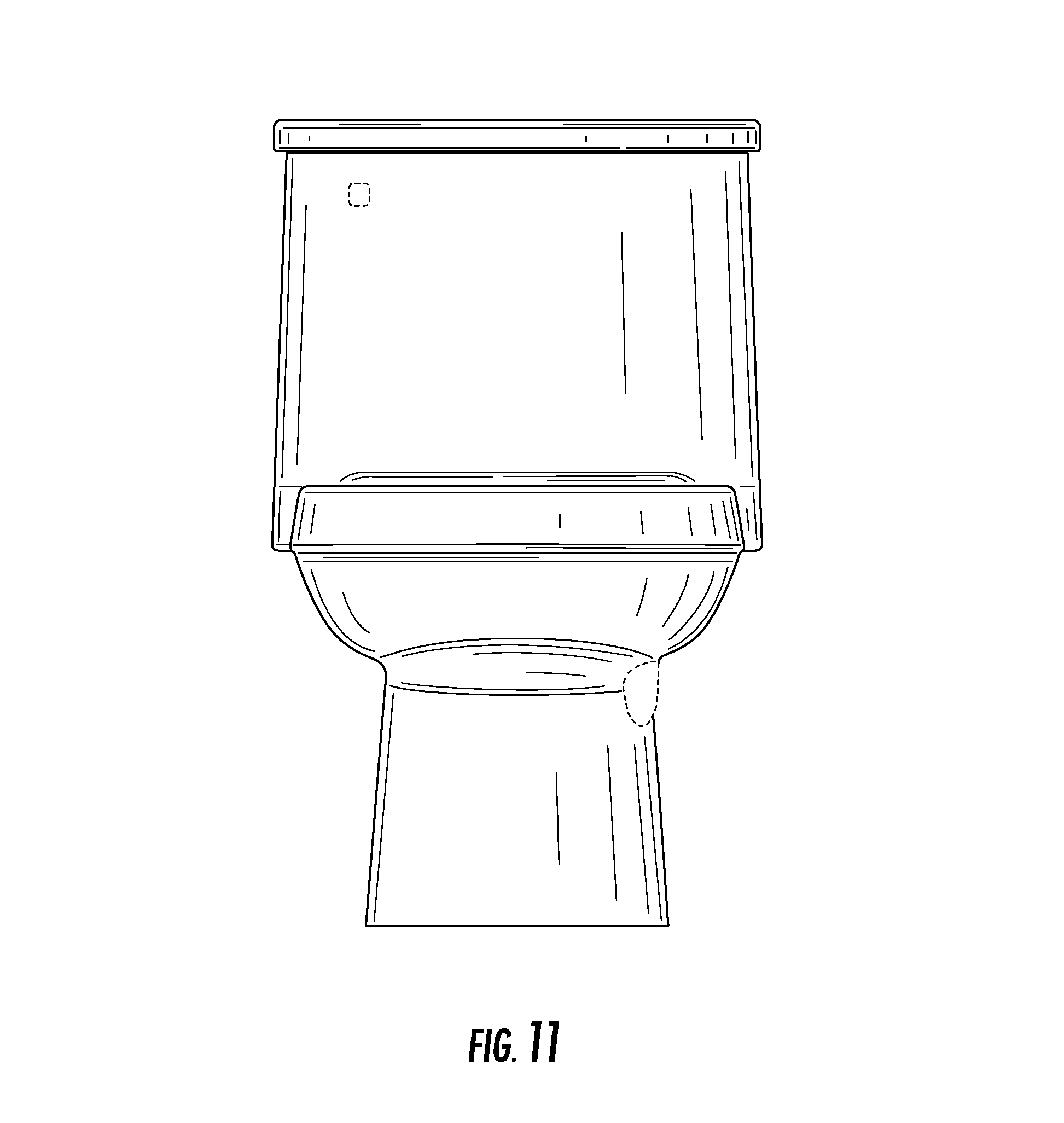 Urinal Front Elevation : Patent usd toilet google patents