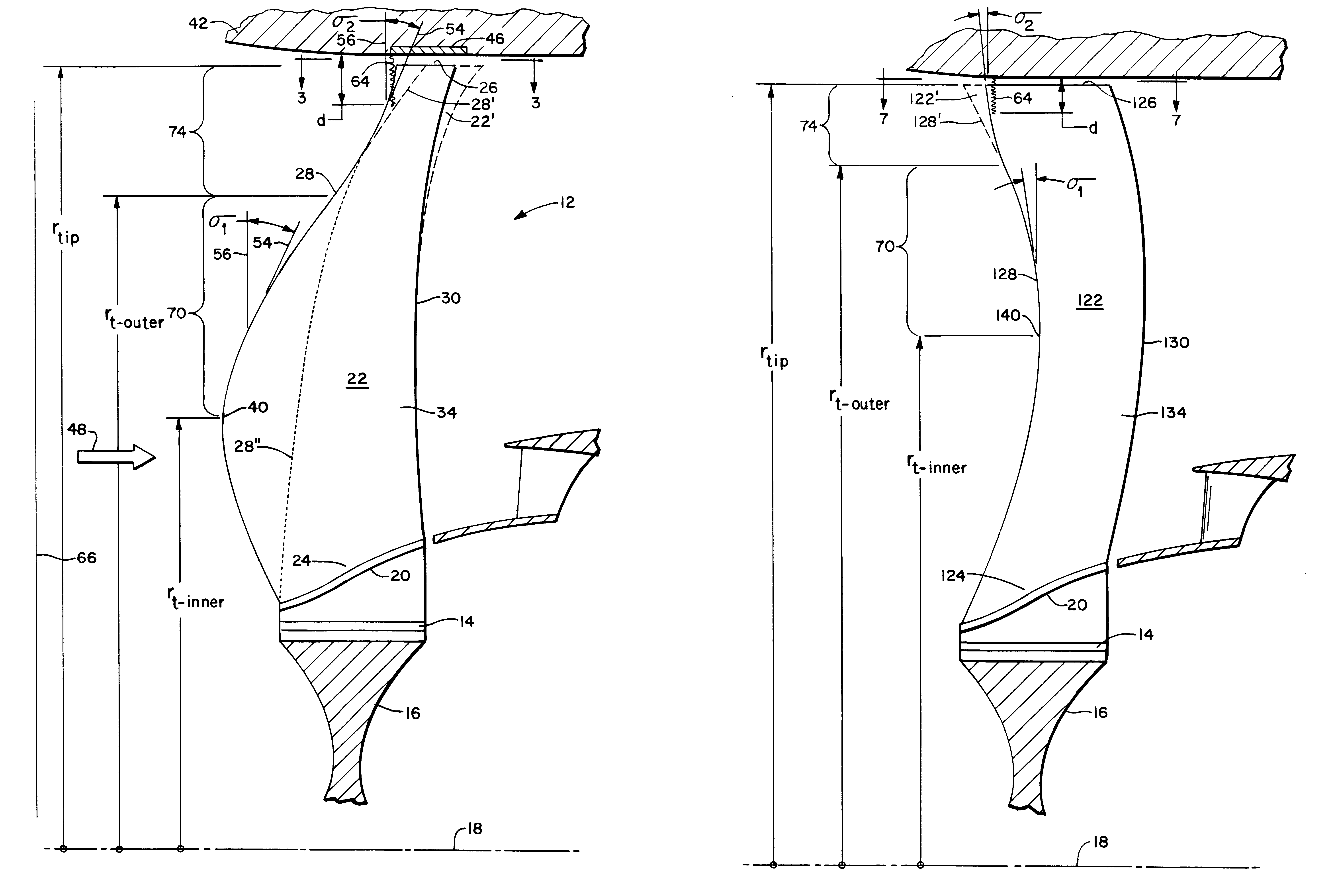 Fan Blade Drawing : Patent usre swept turbomachinery blade google patents
