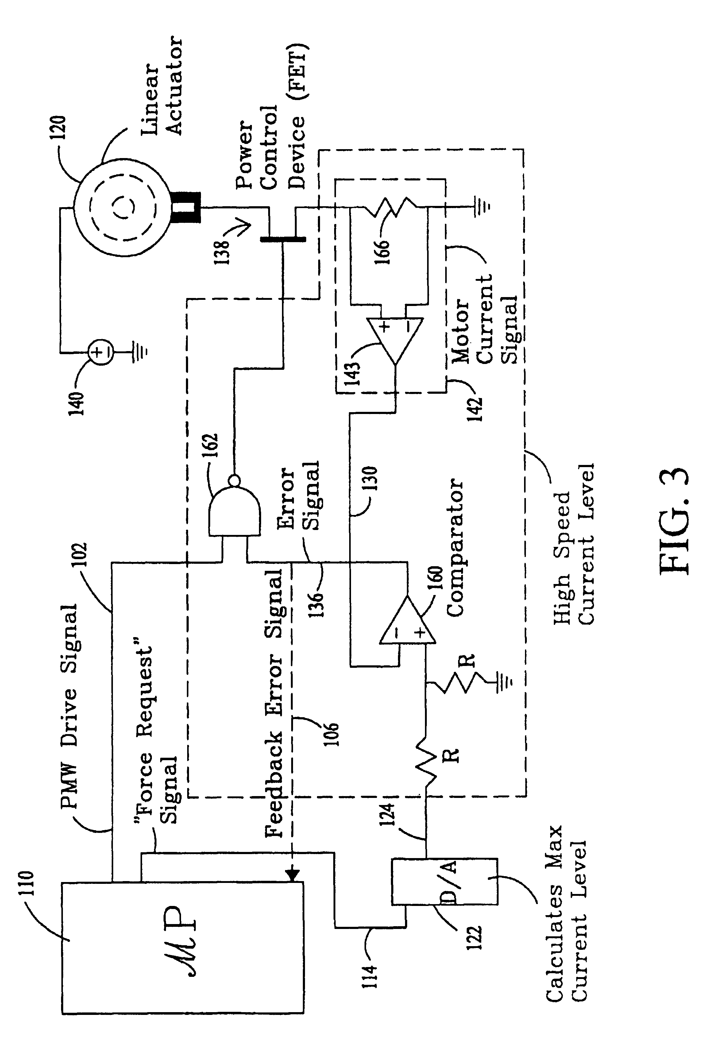 patent usre41036 - linear actuator control structure