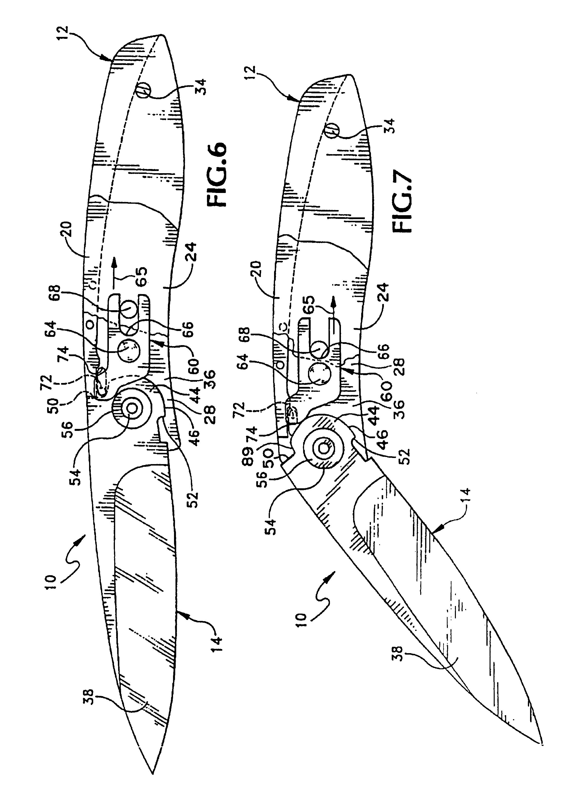 patent usre41259 folding pocket knife with a lock google patents