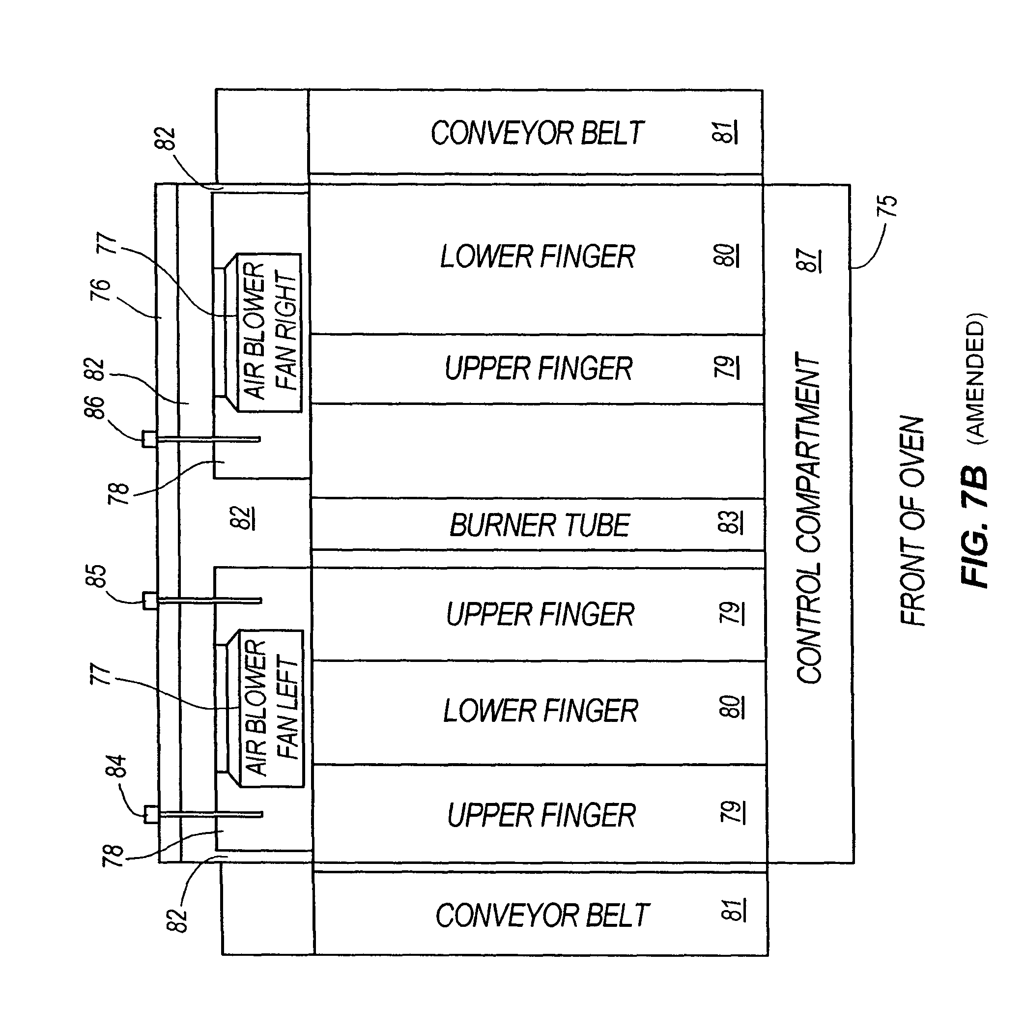 patent usre43035 conveyor oven an energy management system for a modulated gas flow