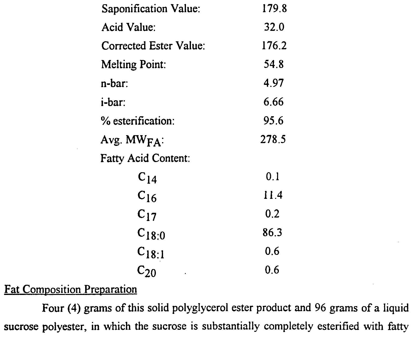 Patent Wo1994009638a1 Nondigestible Fat Compositions