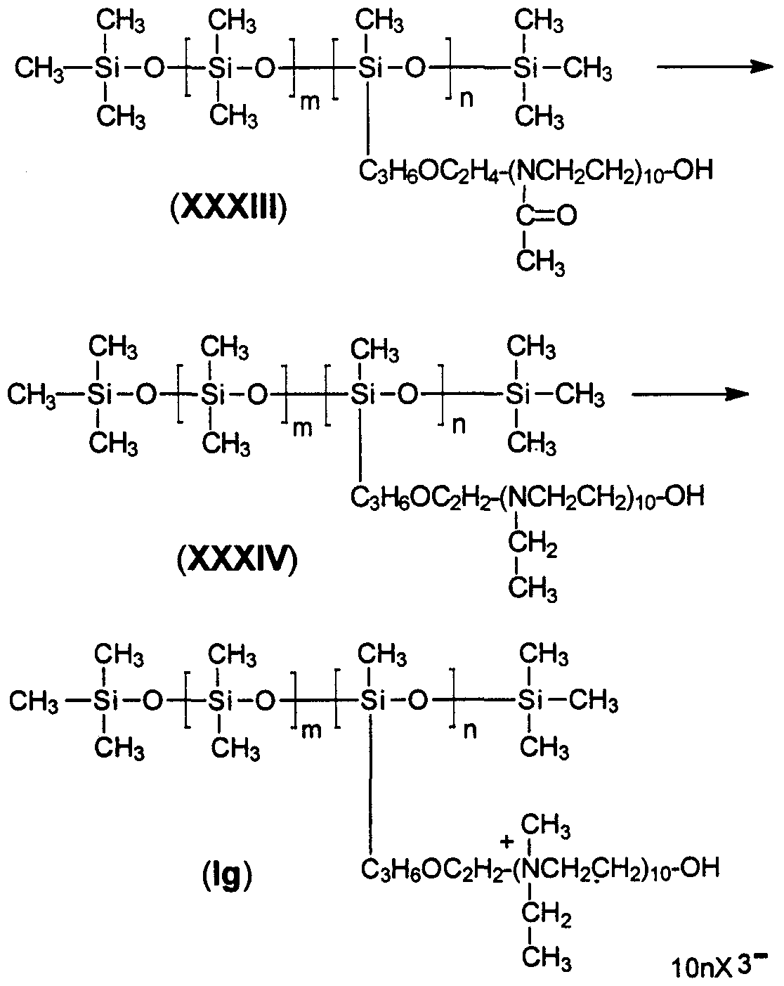 Patent WO1999032539A1 - Multi-cationic silicone polymers ...