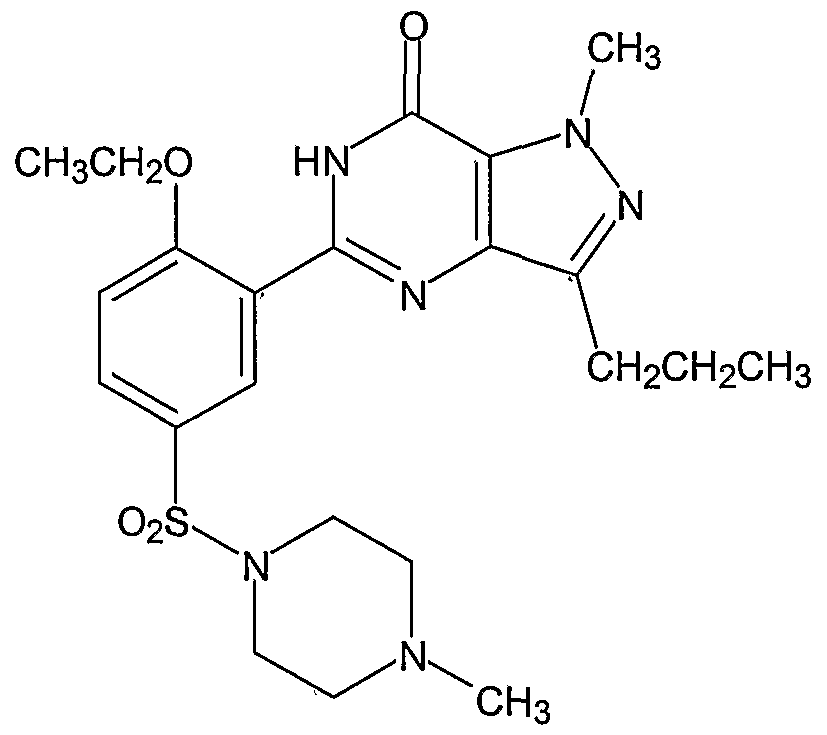 Viagra chemical structure