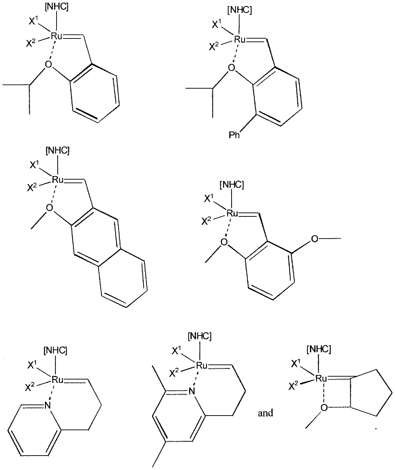 ruthenium catalyst metathesis First-generation catalyst in the 1960's, ruthenium trichloride was found to catalyze olefin metathesis processes were commercialized based on these discoveries.