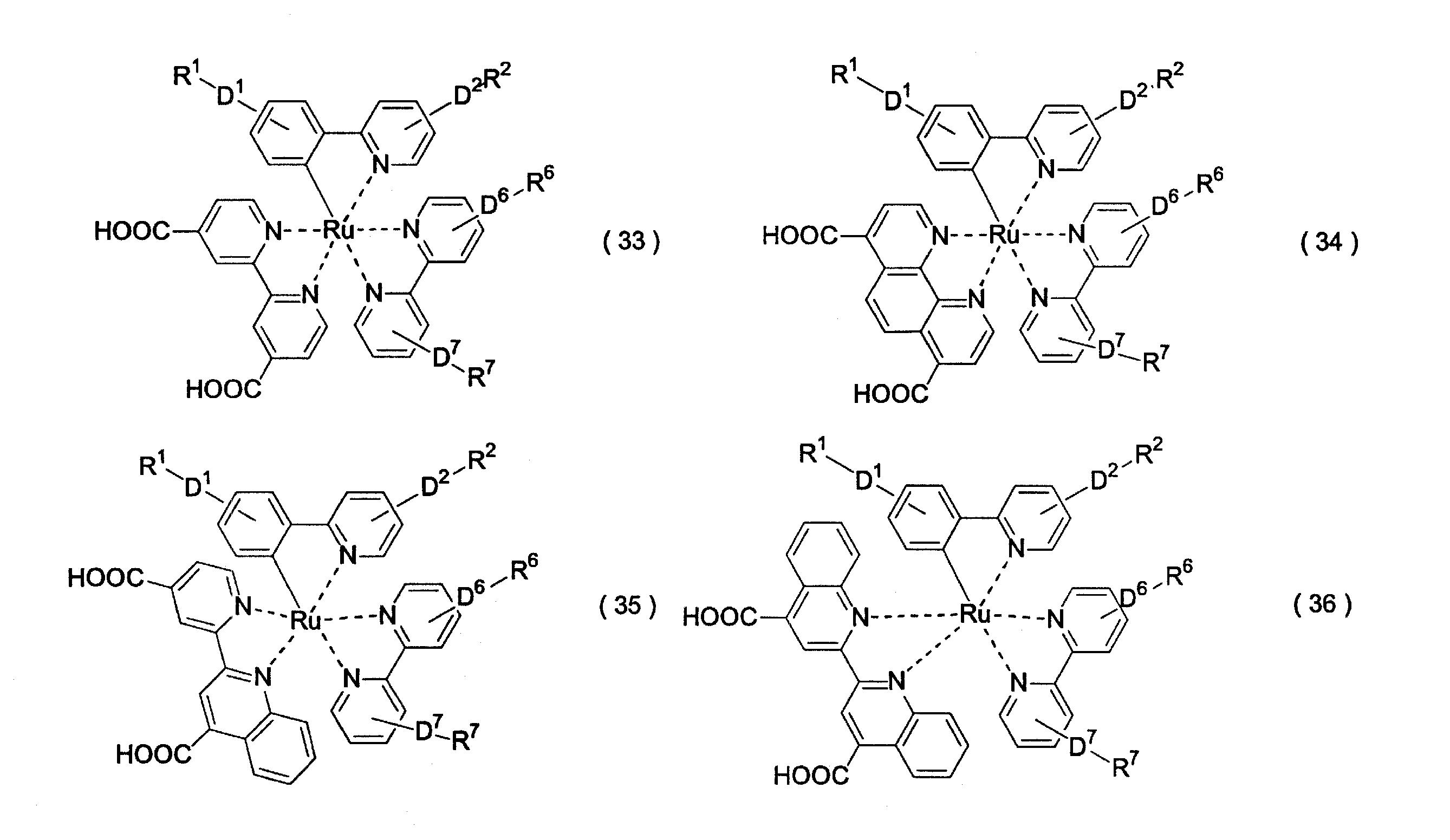 Patents                                                                                                                         Generate link with comments                           ピリジン系金属錯体、それを用いた光電極およびそれを備えた色素増感太陽電池