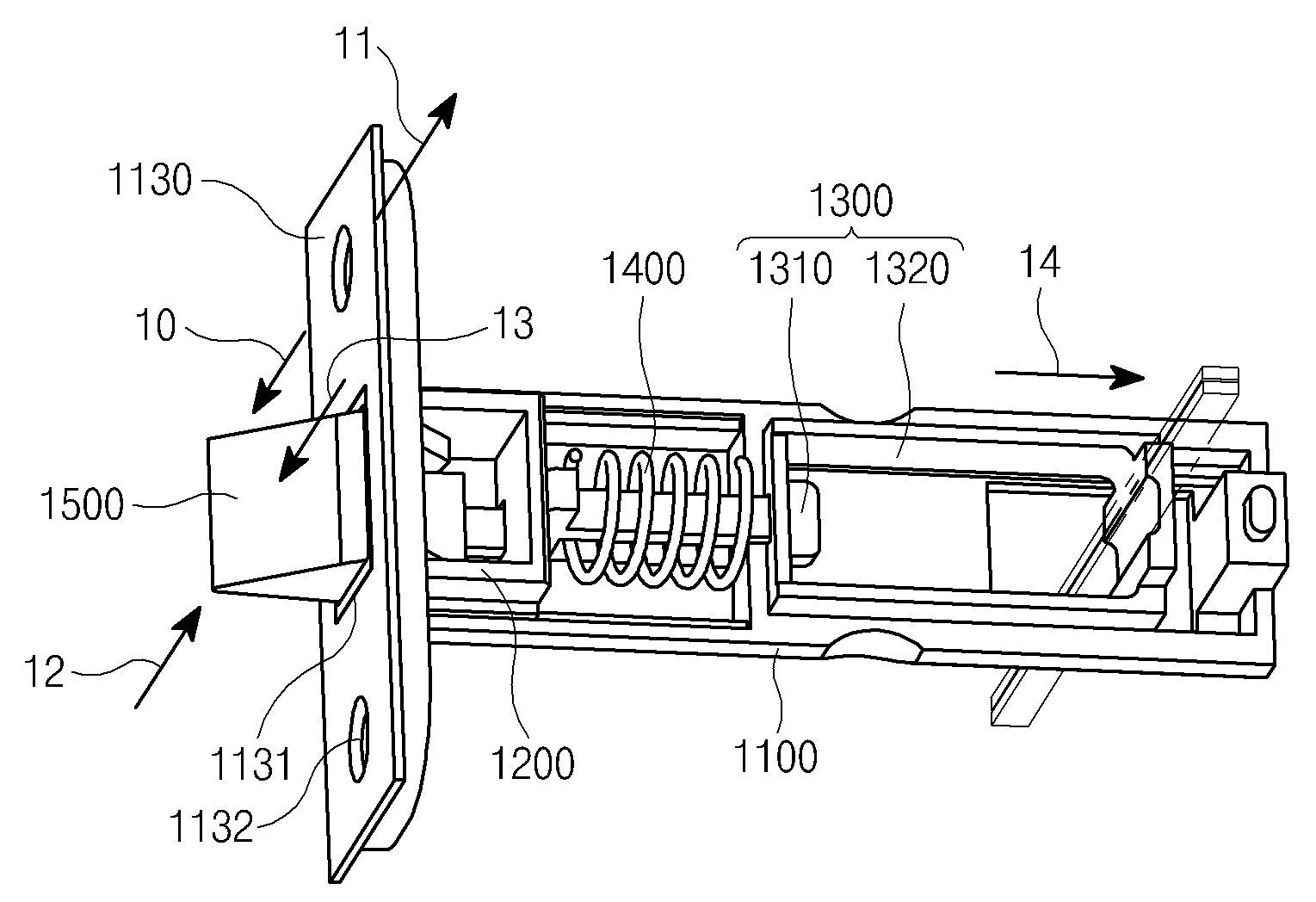 patent wo2010095815a2 - door lock apparatus