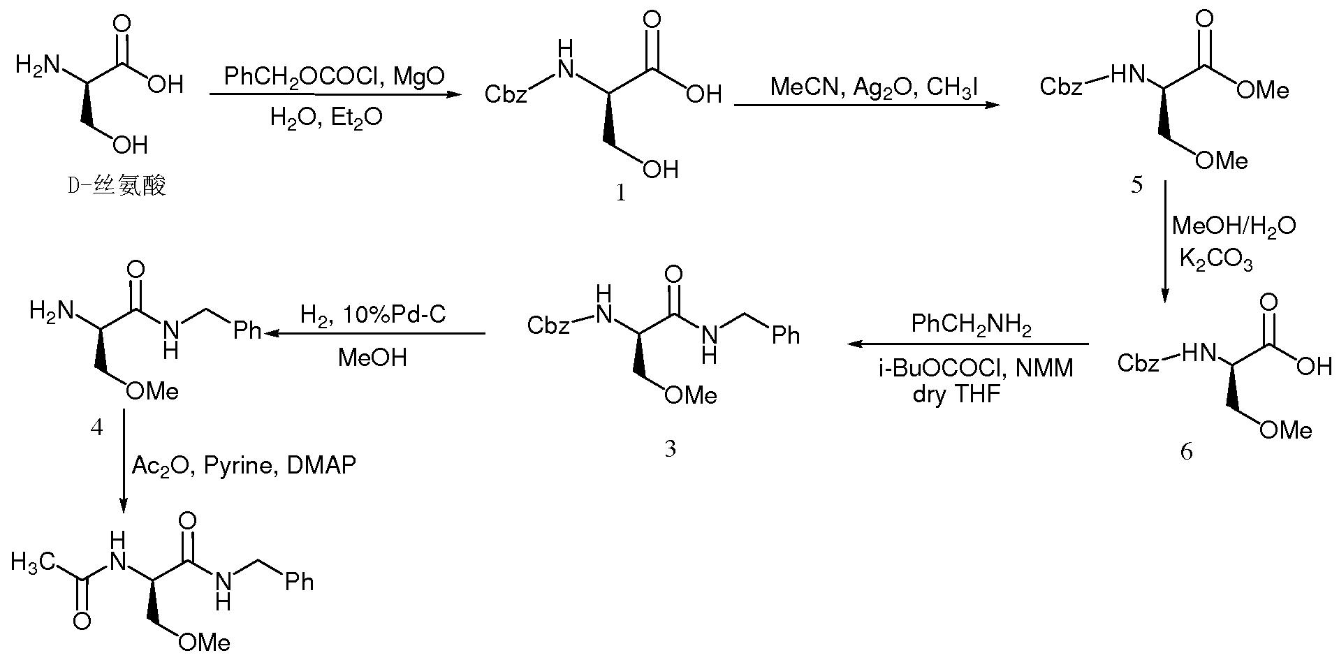 在拉科酰胺的制备过程中