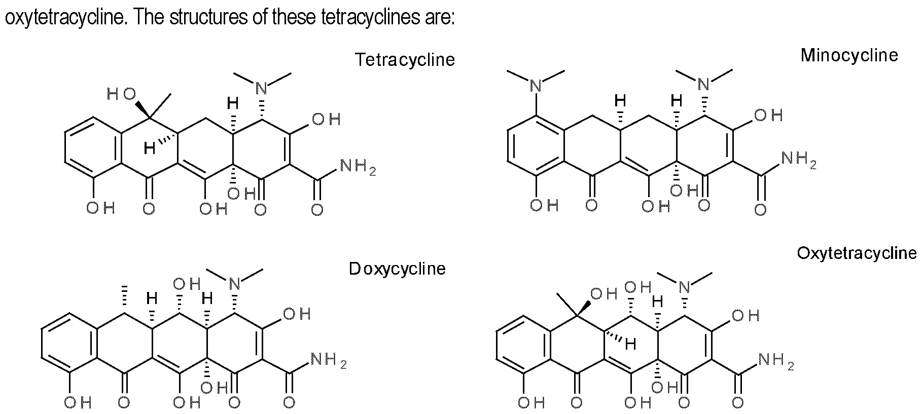 Tetrocycline vs doxycycline order, Tetracyclines - UpToDate