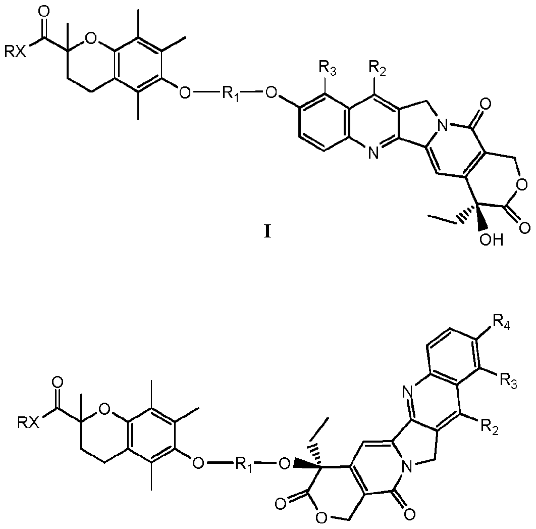 、 伊立替康的常规剂量为 100mg-350mg/m 本发明的药物化合物可以单独使用, 也可与一个或多个其它的治疗药物一起使用。 例 如, 在癌症的治疗时, 这些药物化合物可与以下治疗药物一起使用, 包括但不限于: 雄激 素抑制剂, 如氟他胺 (flutamide ) 和鲁珀若利得 (luprolide ) ; 抗雌激素, 如他莫昔芬 (tamoxifen) ; 抗代谢药物和细胞毒性药物, 如道诺红菌素 ( daunorubicin )、 五氟脲嘧啶 ( fluorouracil )、氟尿昔(floxur