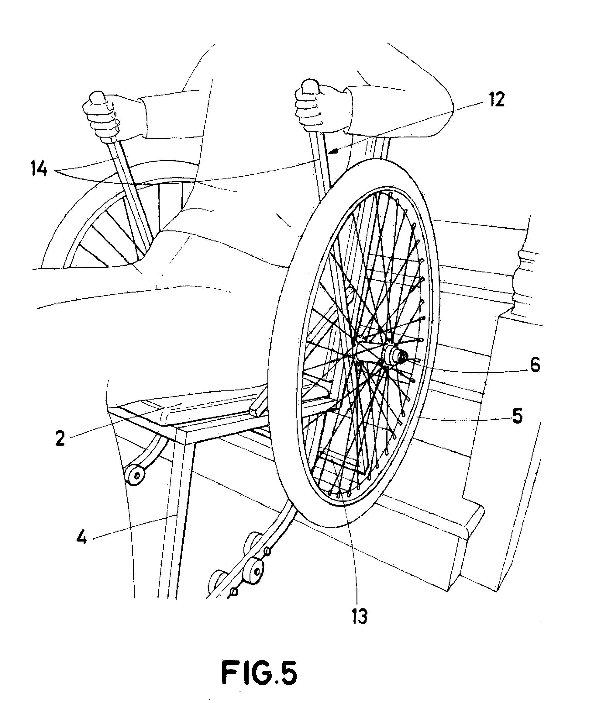 Patent WOA1 Silla de ruedas con mecanismo para subir