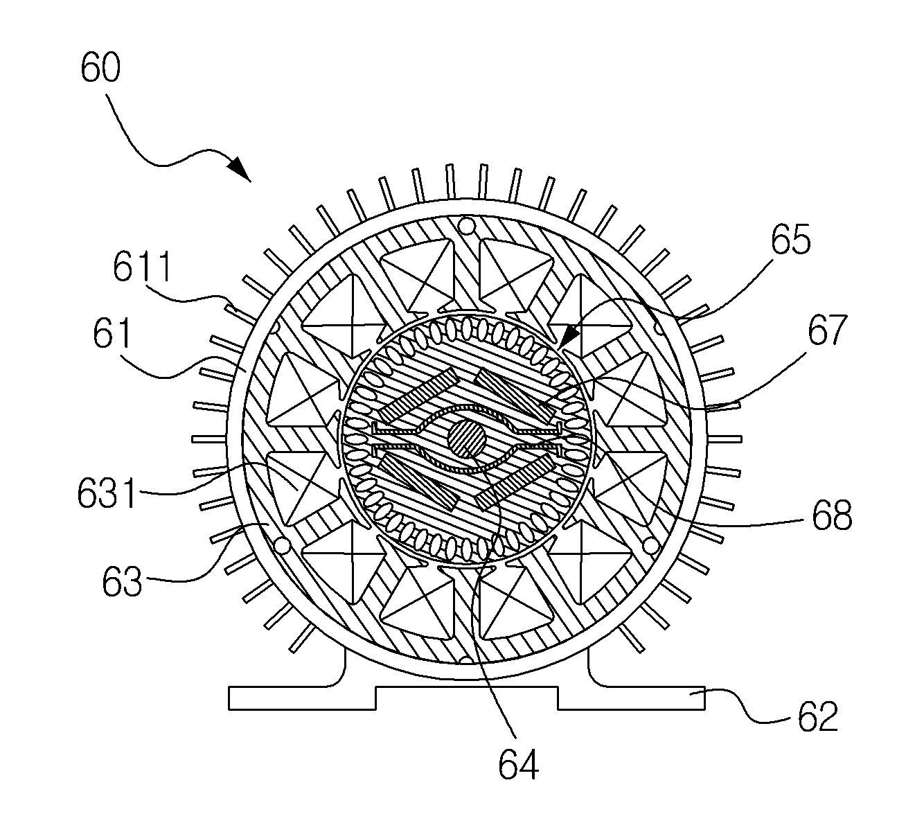 Patent Wo2014104826a1 Rotor Of Interior Permanent Magnet Motor For Preventing Leakage Flux
