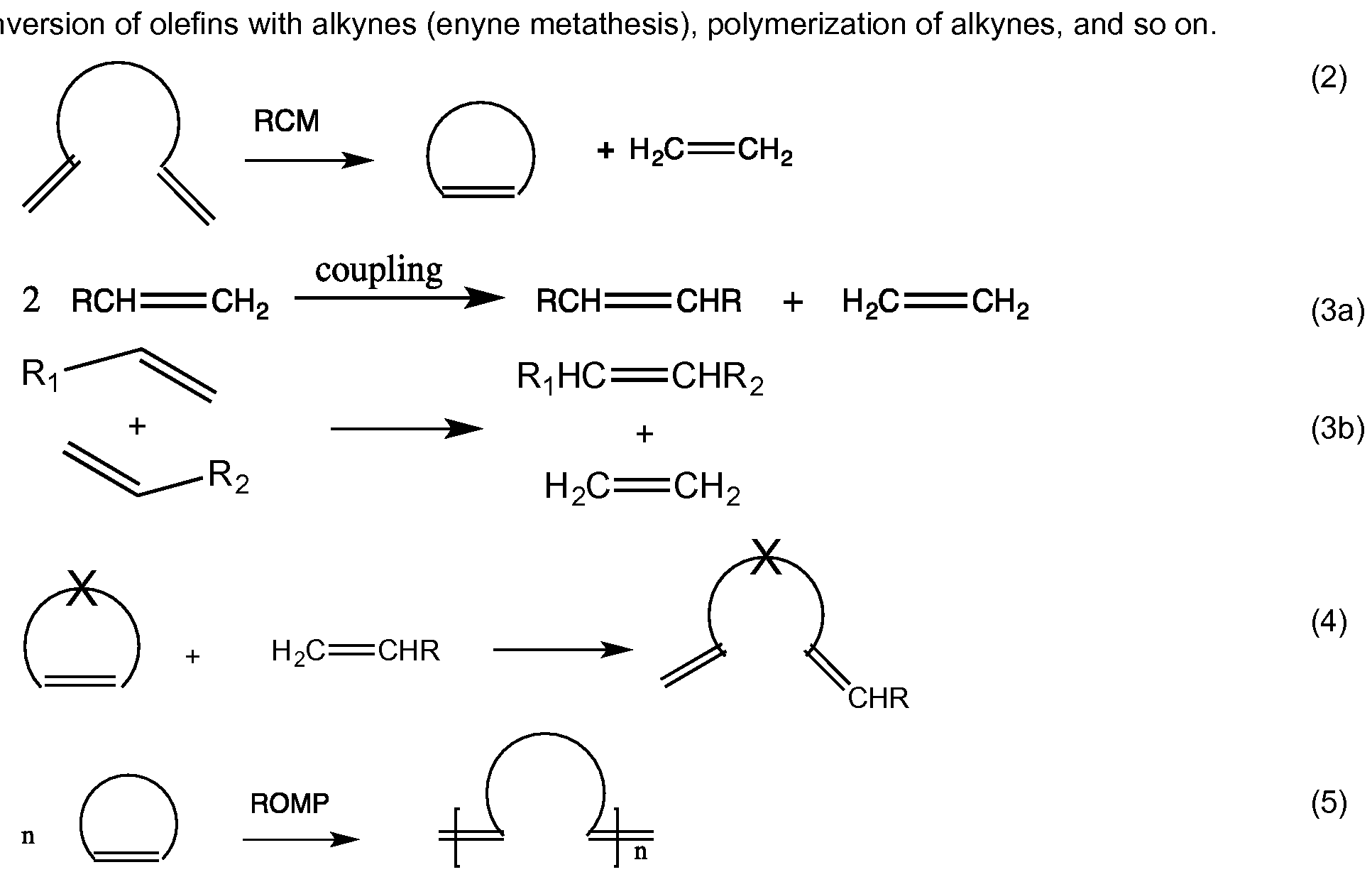 ring closing metathesis reaction There are several categories of metathesis reactions:  ring closing metathesis ( rcm)  challenge in organic synthesis until the advent of olefin ring closing.