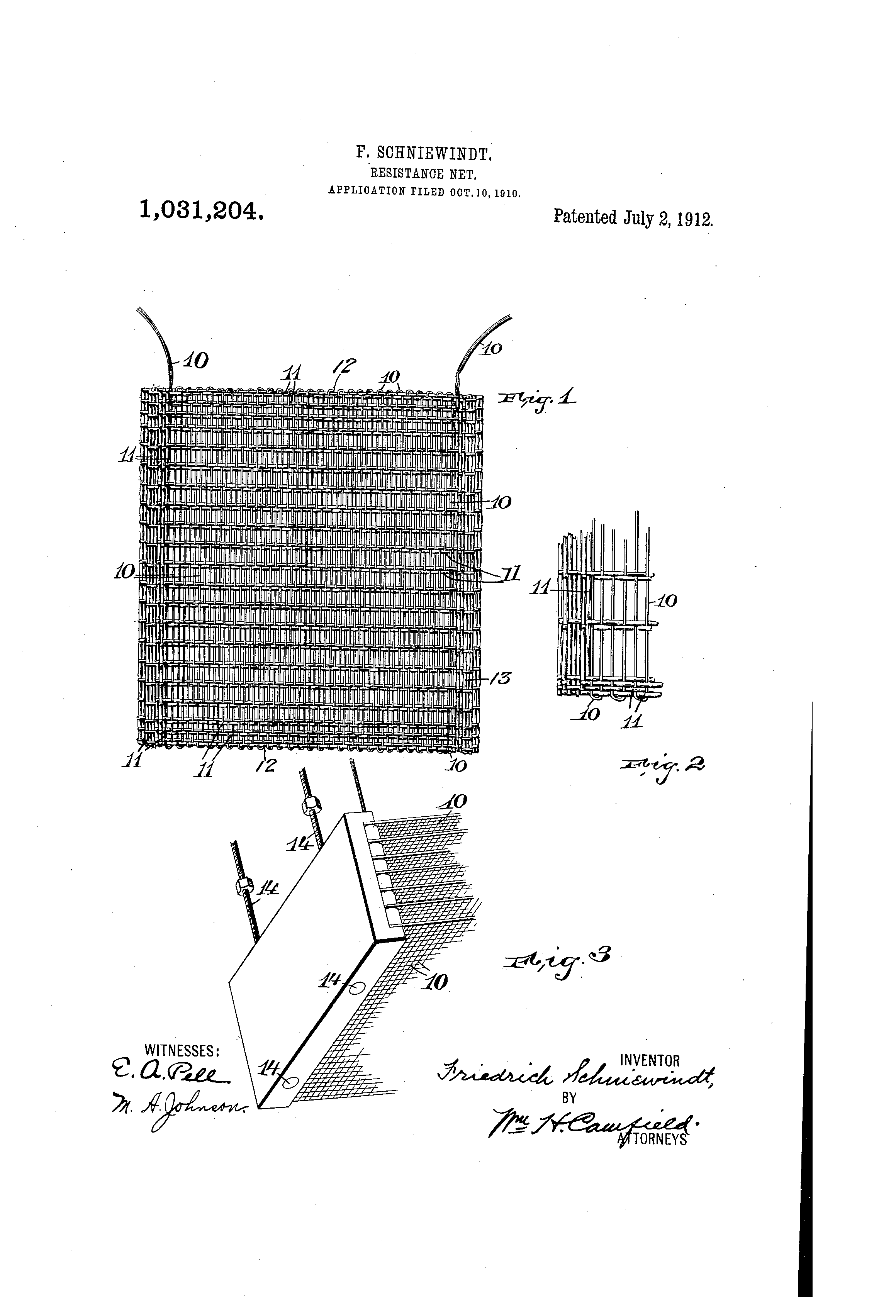 Patent Us1031204 Resistance Net Google Patents Friedrich Wiring Diagrams Drawing