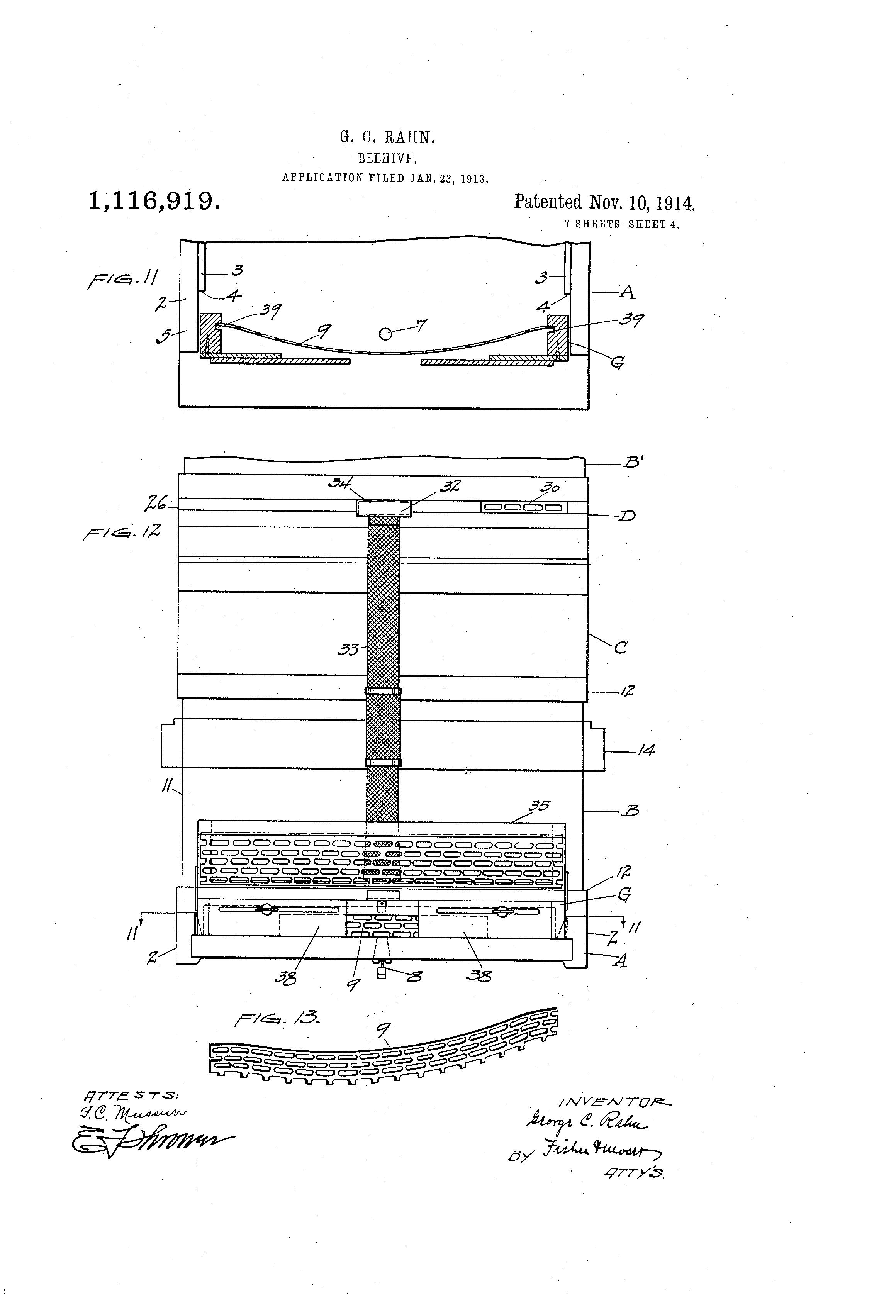 Patent Us1116919 Beehive Google Patents Phone Wiring Diagram Drawing
