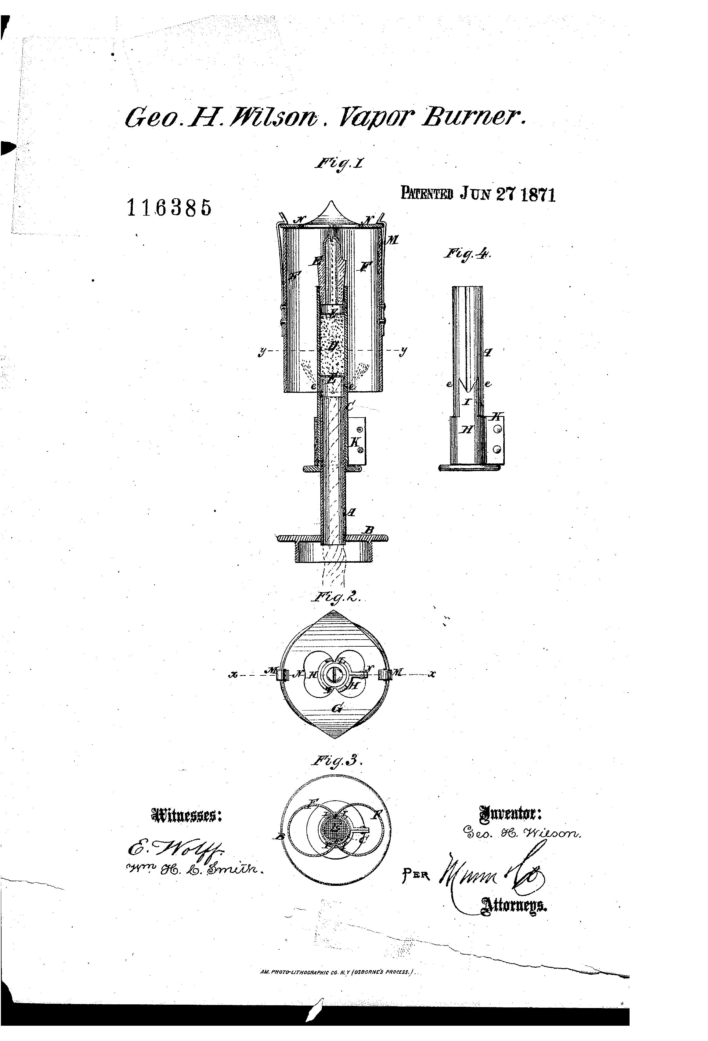 Patent US116385 - Improvement in vapor-burners - Google Patentsuche