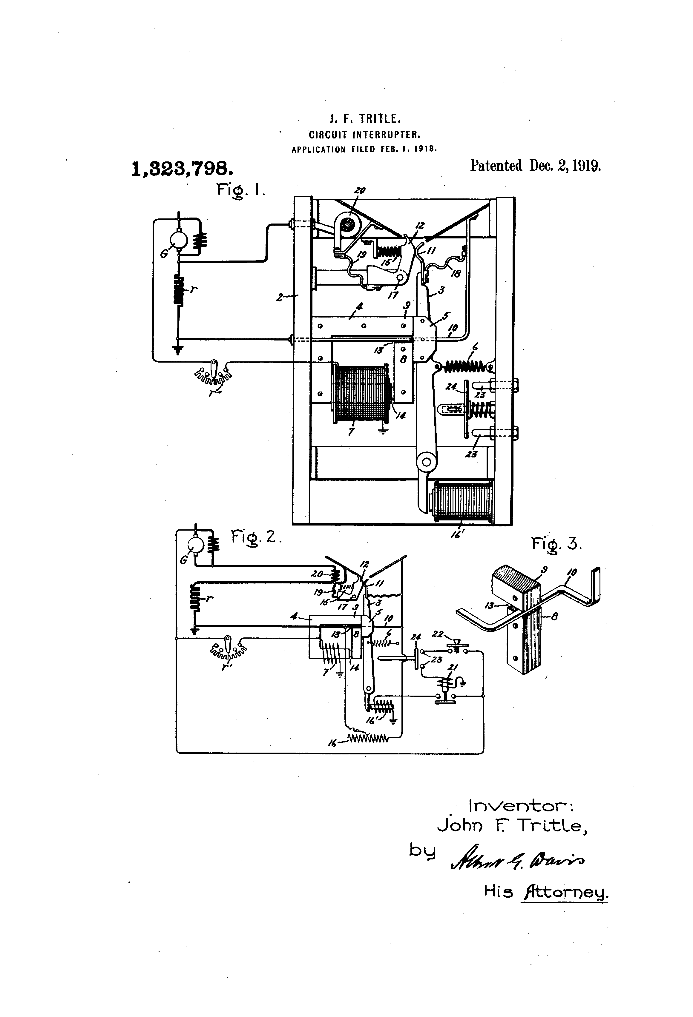 Patente Us1323798 Circuit Interrupter Google Patentes Interrupters Patent Drawing