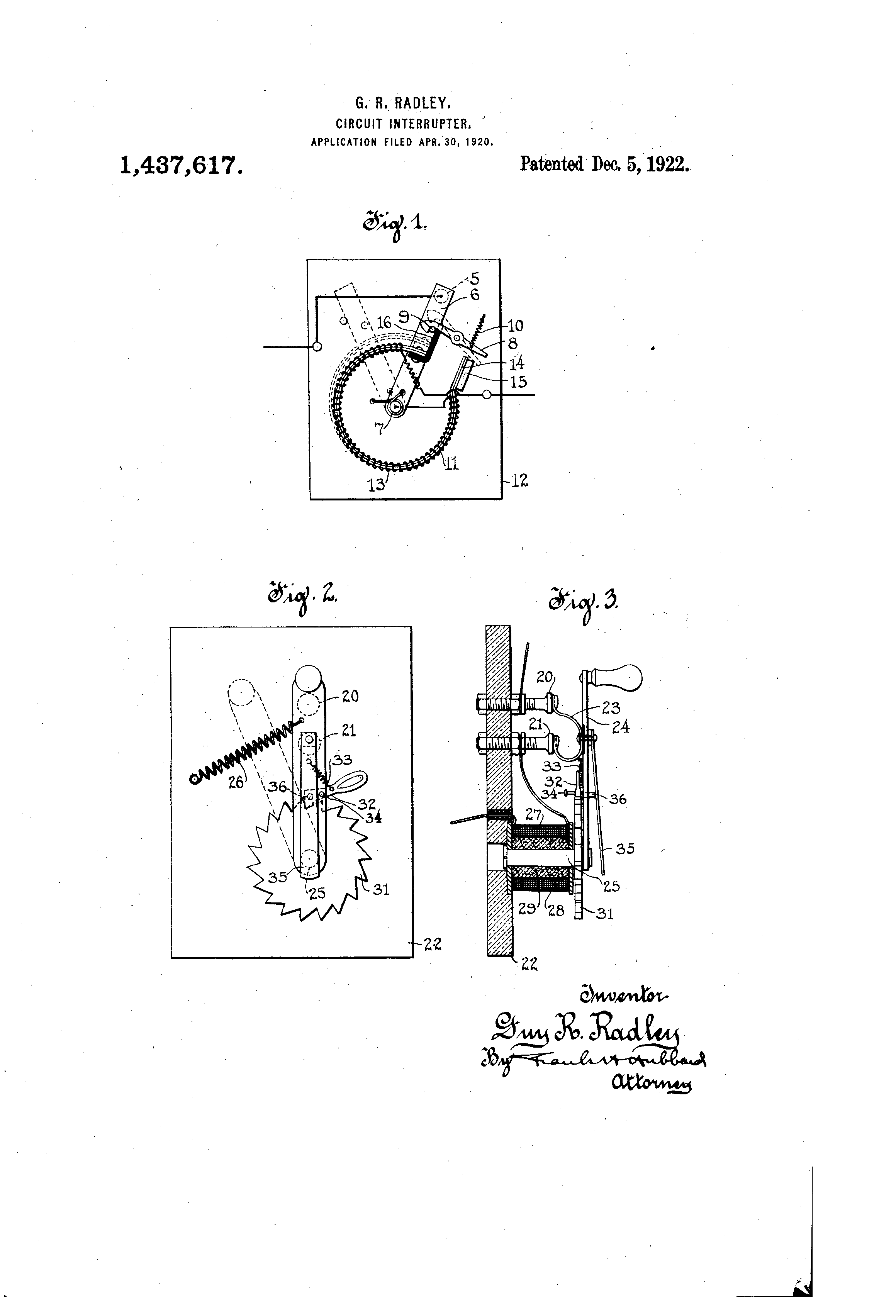 Patent Us1437617 Circuit Interrupter Google Patents Interrupters Drawing
