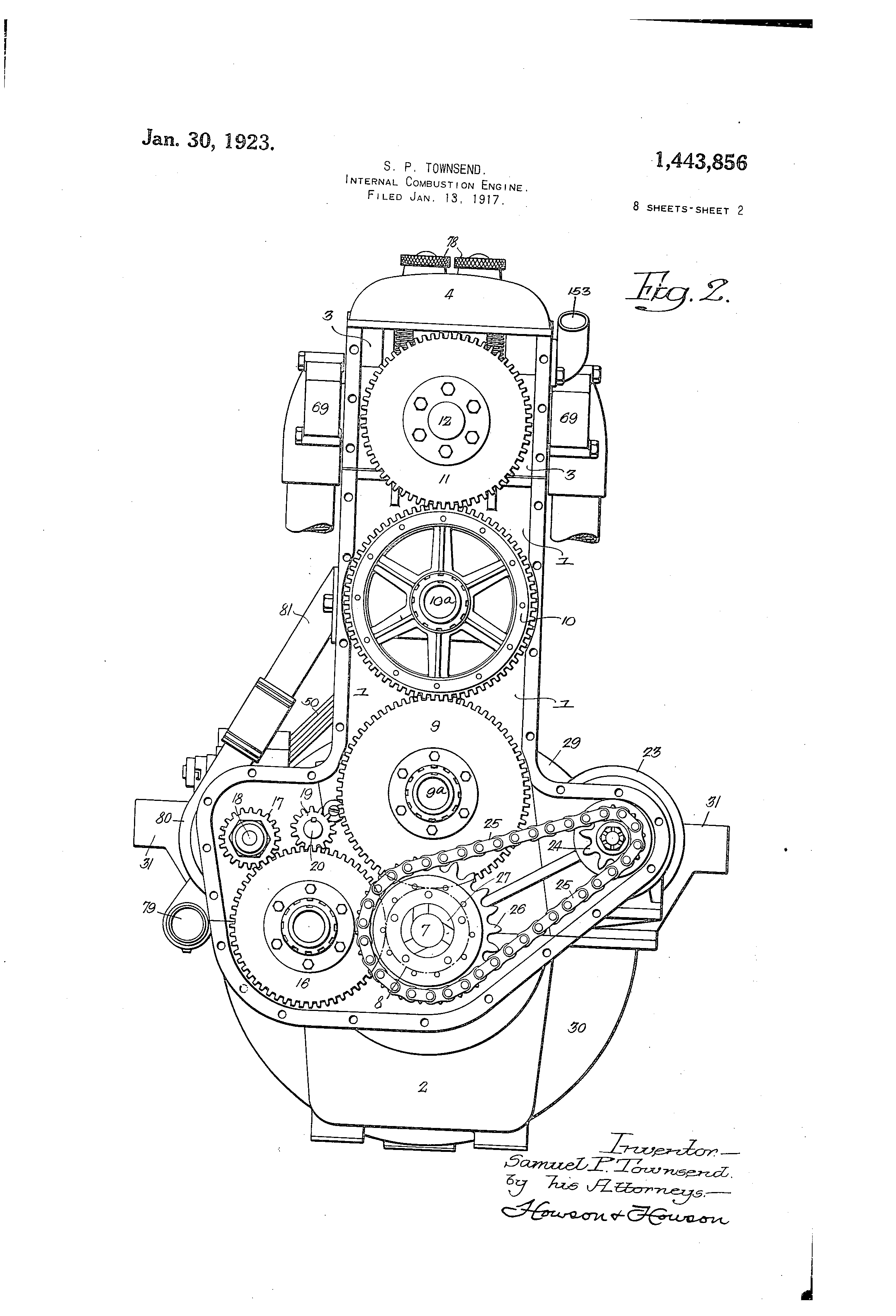 Patent Us1443856 Internal Combustion Engine Google Patents Simple Diagram Drawing