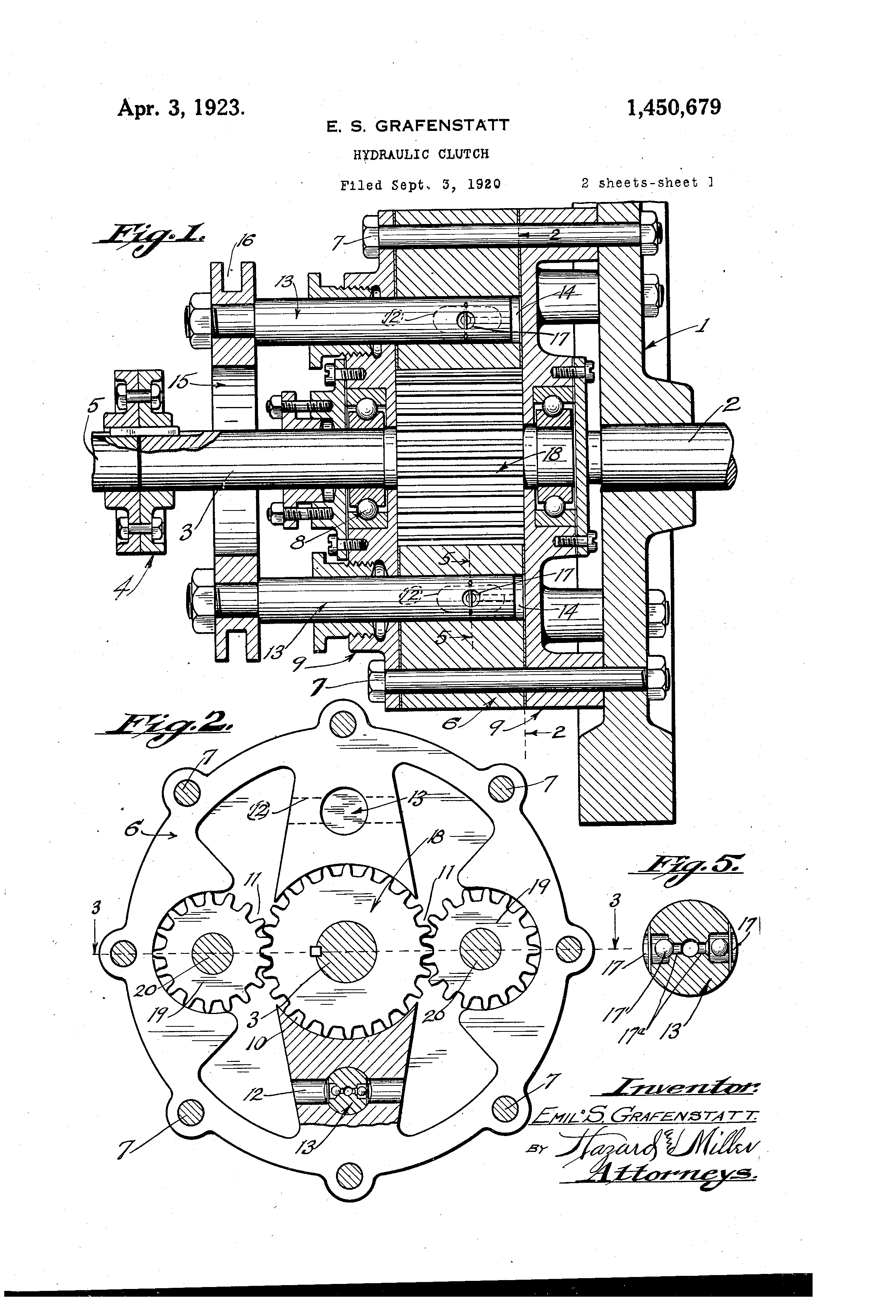 Patent Us1450679 Hydraulic Clutch Google Patents Diagram Drawing