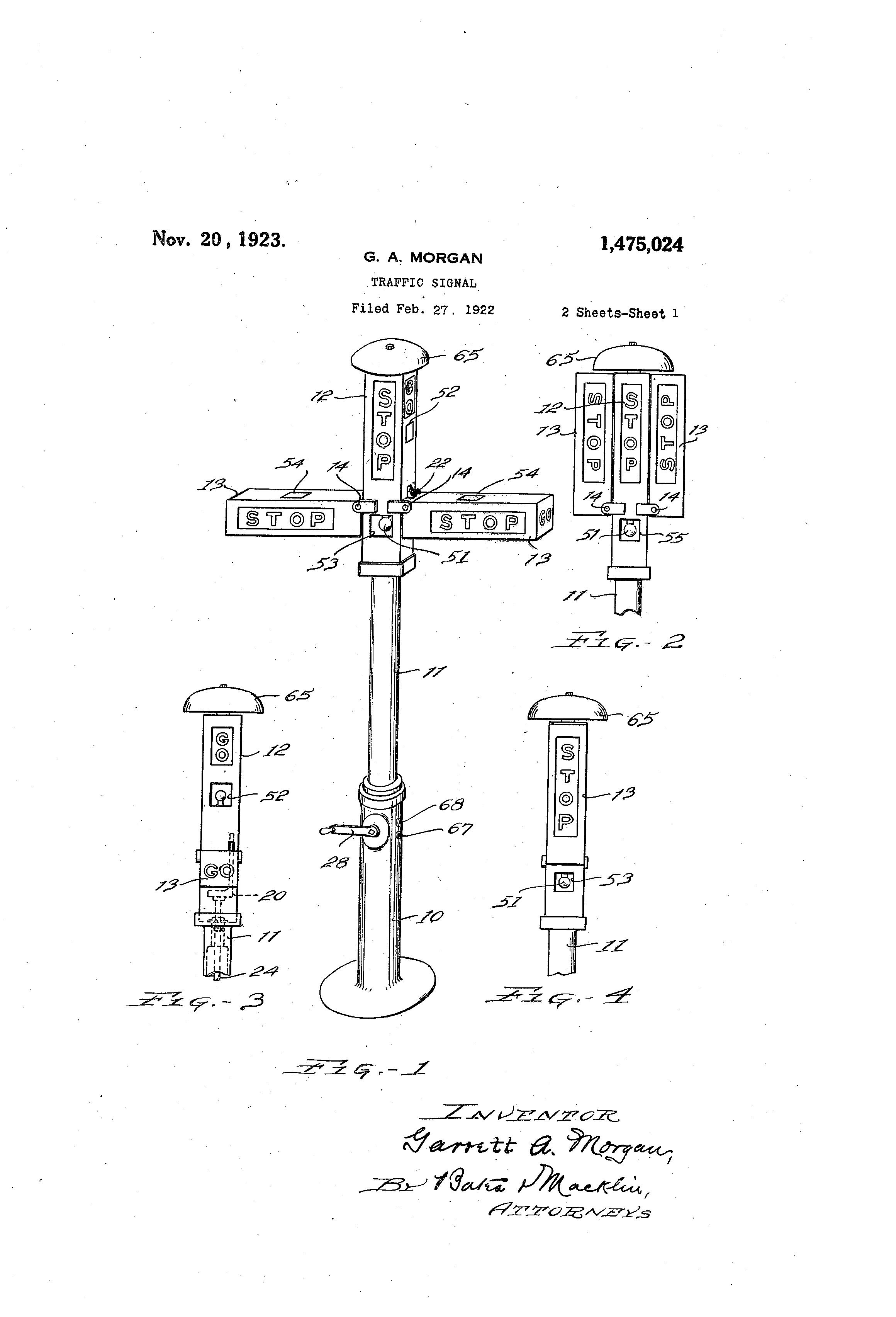 Patent Us1475024 Traffic Signal Google Patents