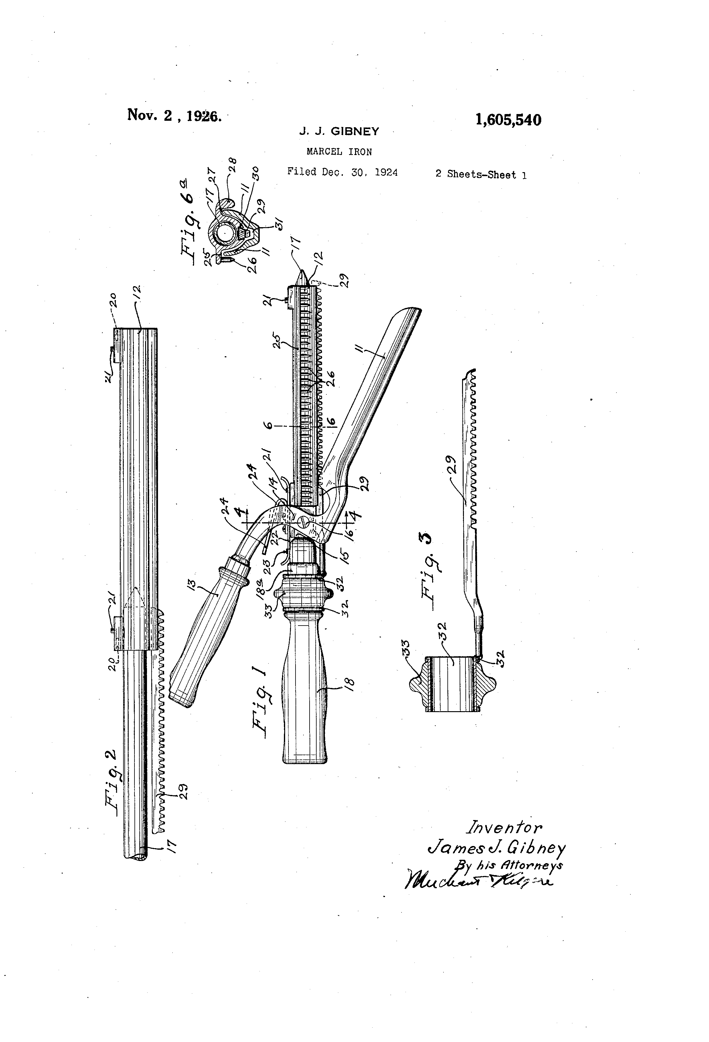 Parts Of An Iron ~ Patent us marcel iron google patents