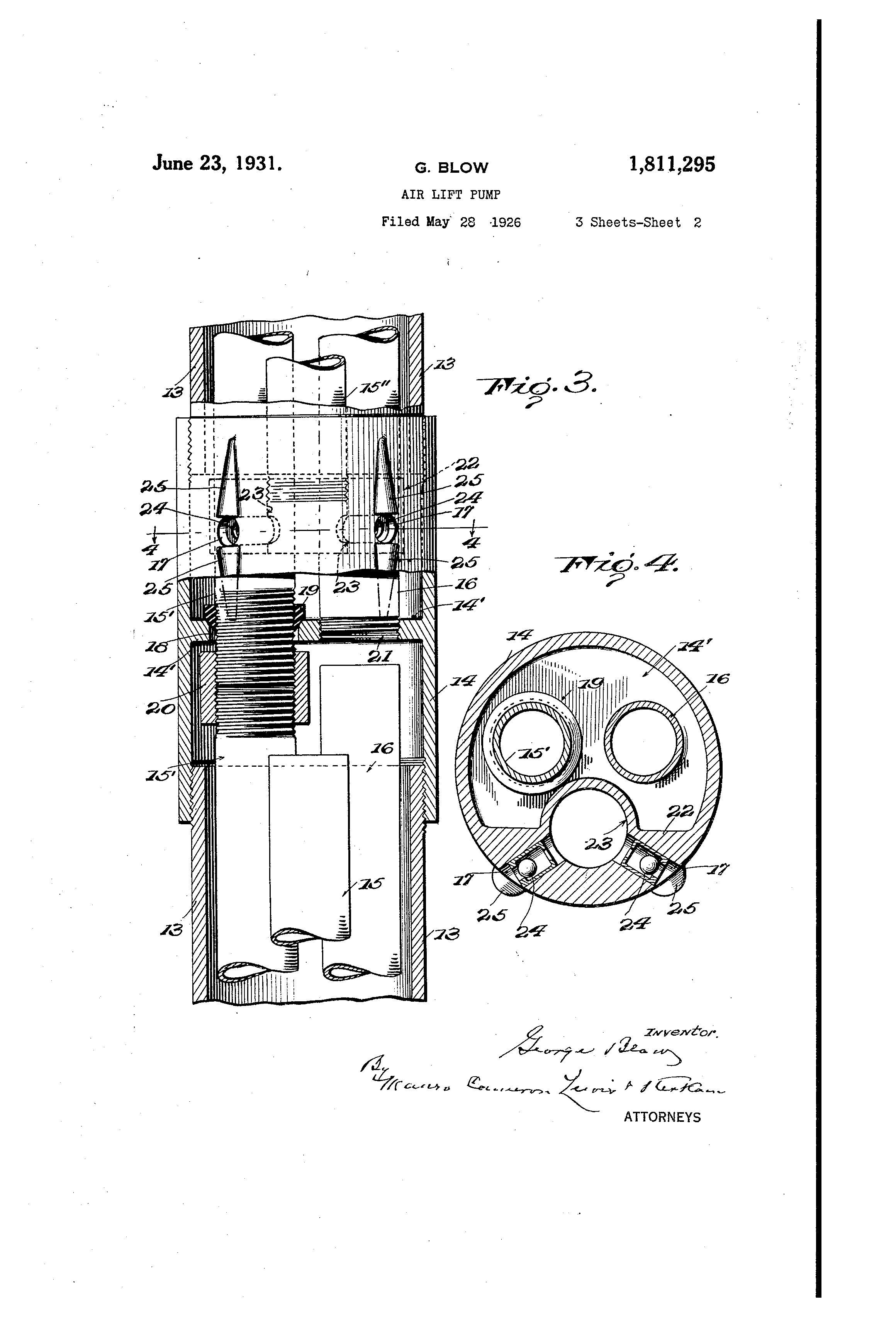 patent us1811295 - air lift pump