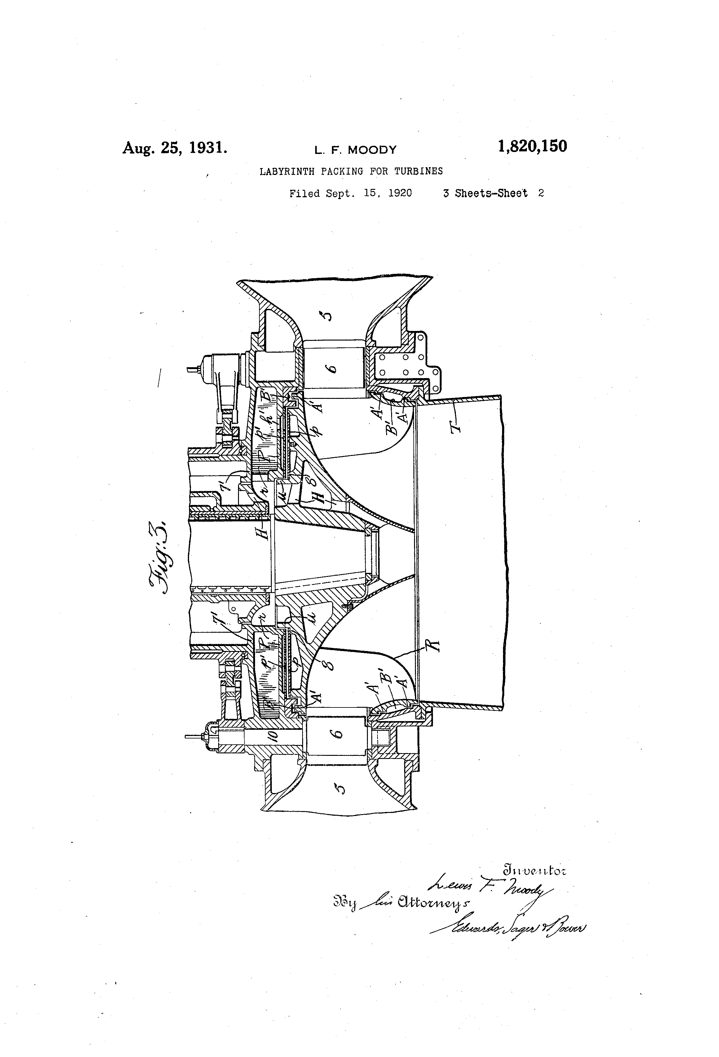 Patent US Labyrinth packing for turbines Google Patents