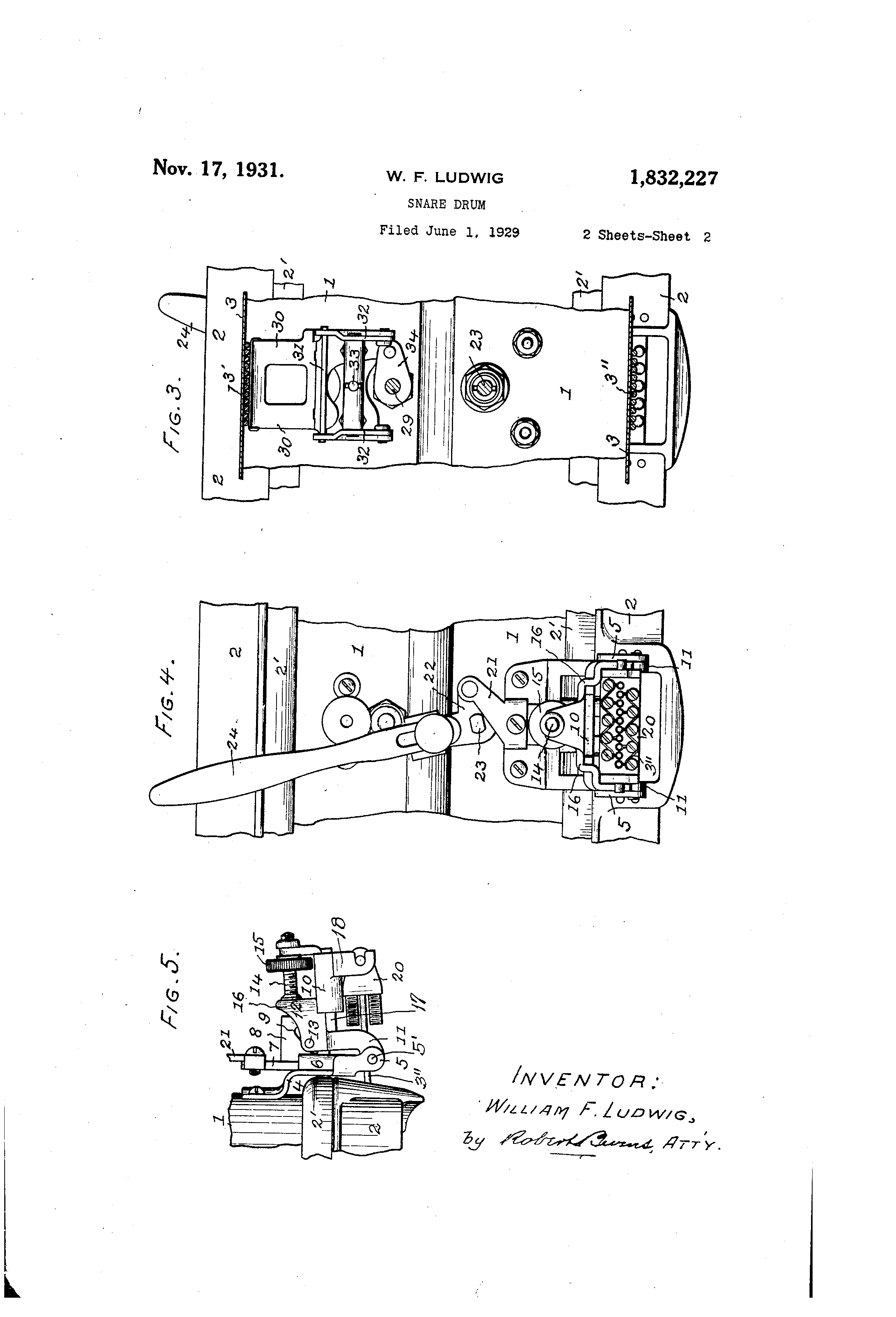 Patent Us1832227 Snare Drum Google Patents Diagram Drawing