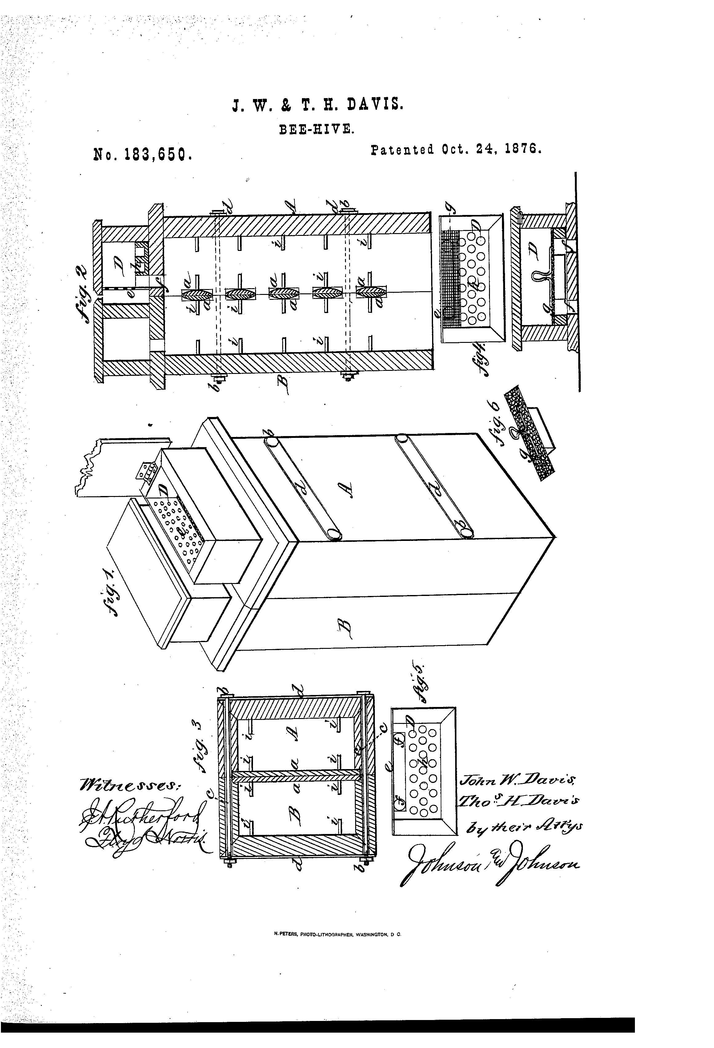 Patent Us183650 Improvement In Bee Hives Google Patents Beehive Phone Wiring Diagram Drawing