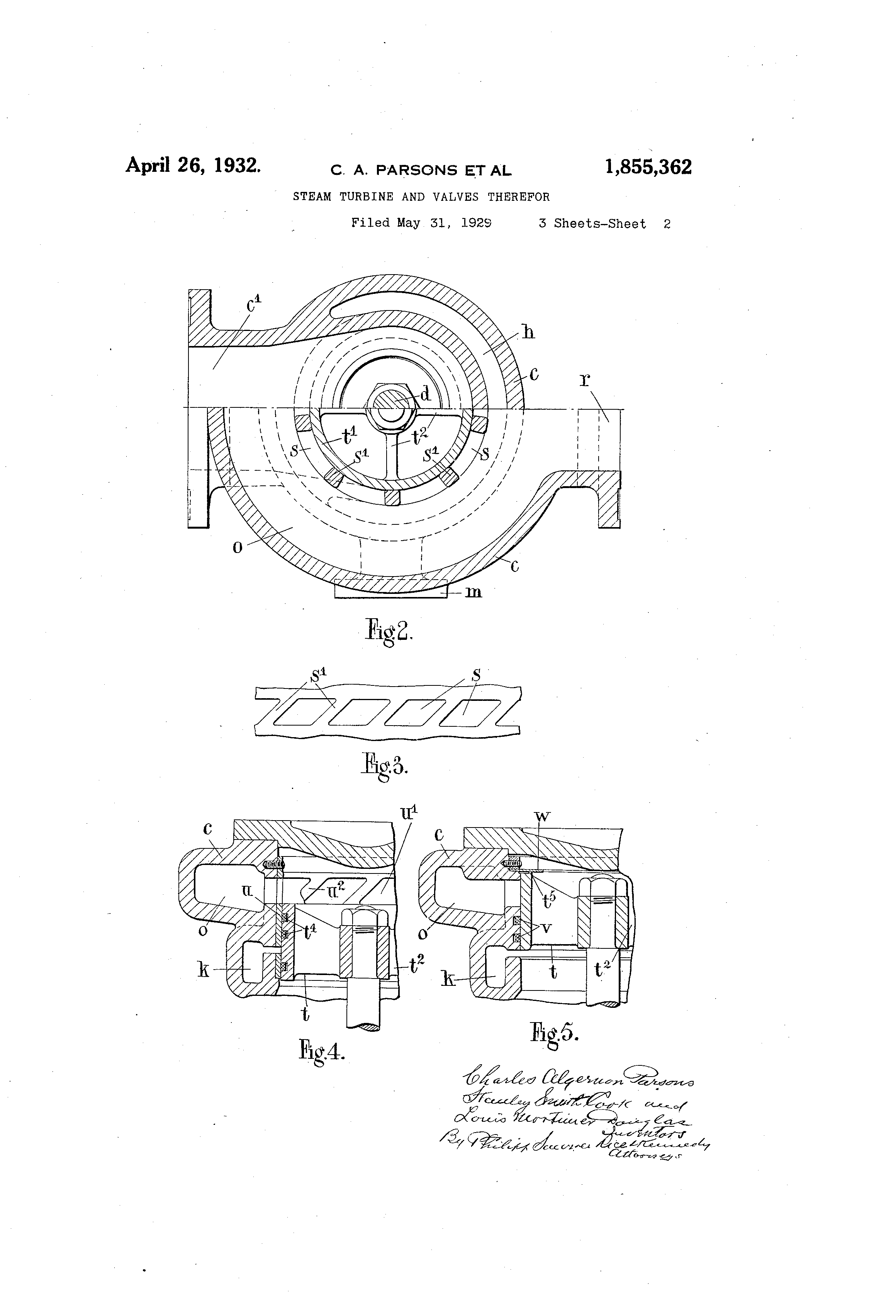 Patent US Steam turbine and valves therefor Google Patents