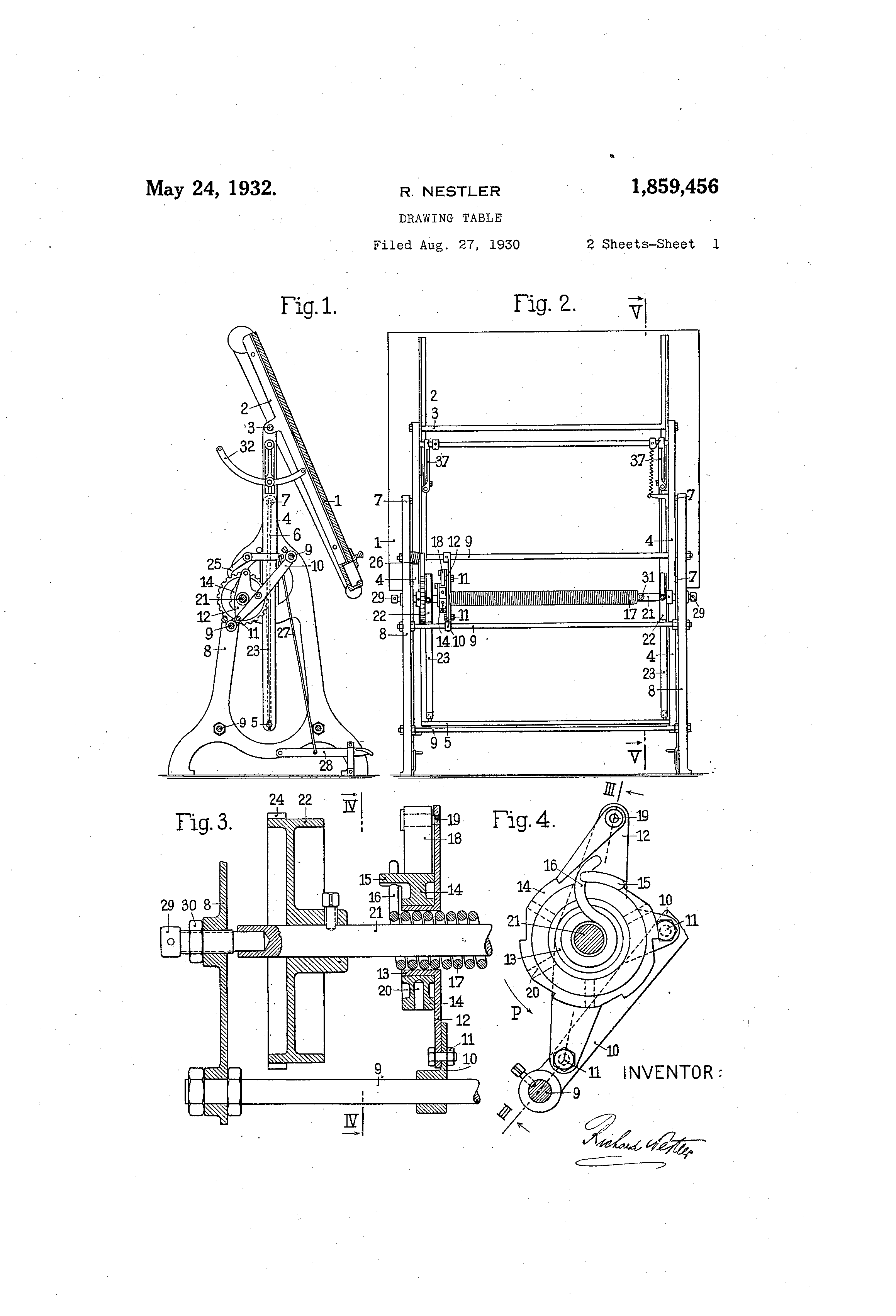 Patent US1859456 Drawing Table Google Patents