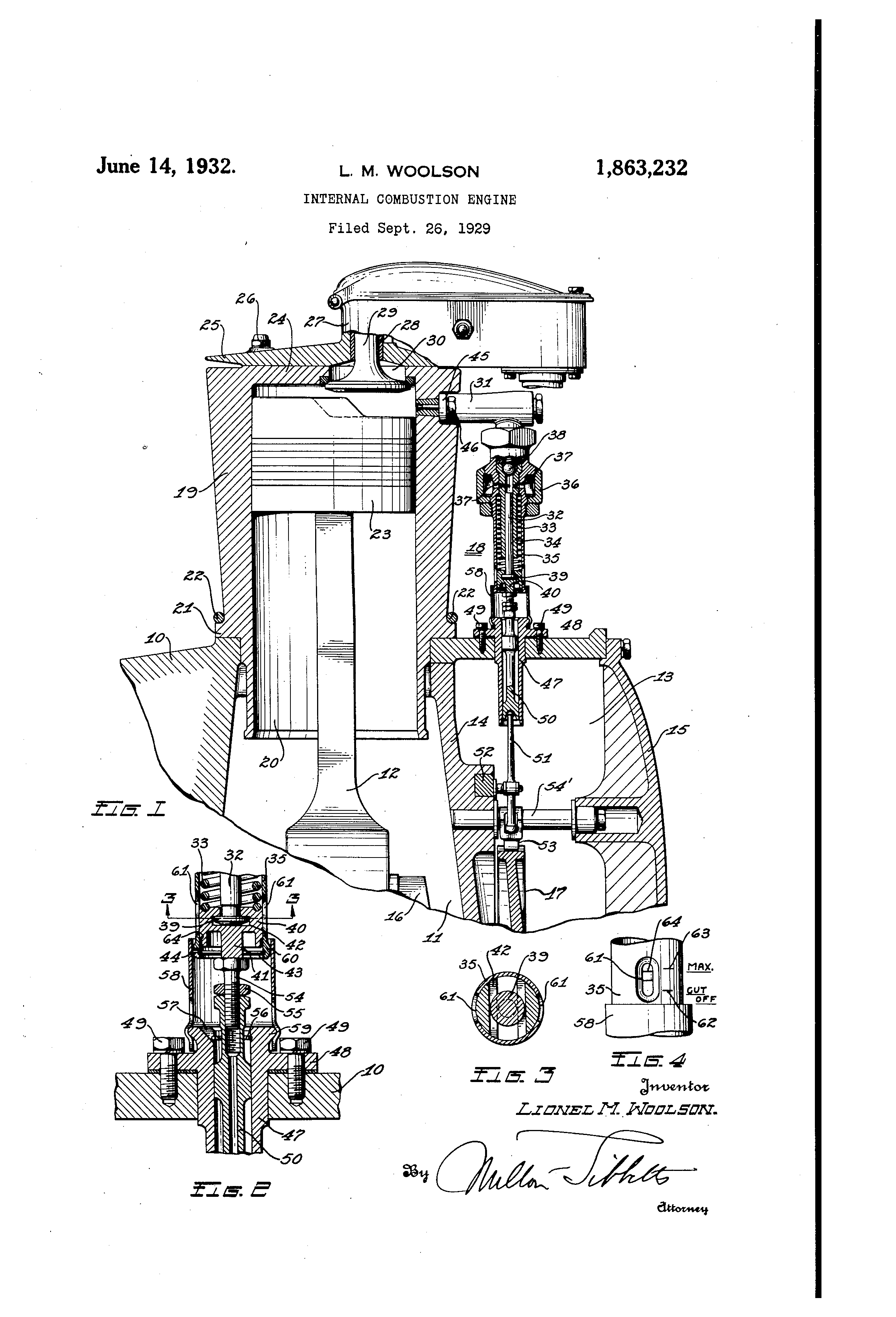 patent us1863232 - internal-combustion engine