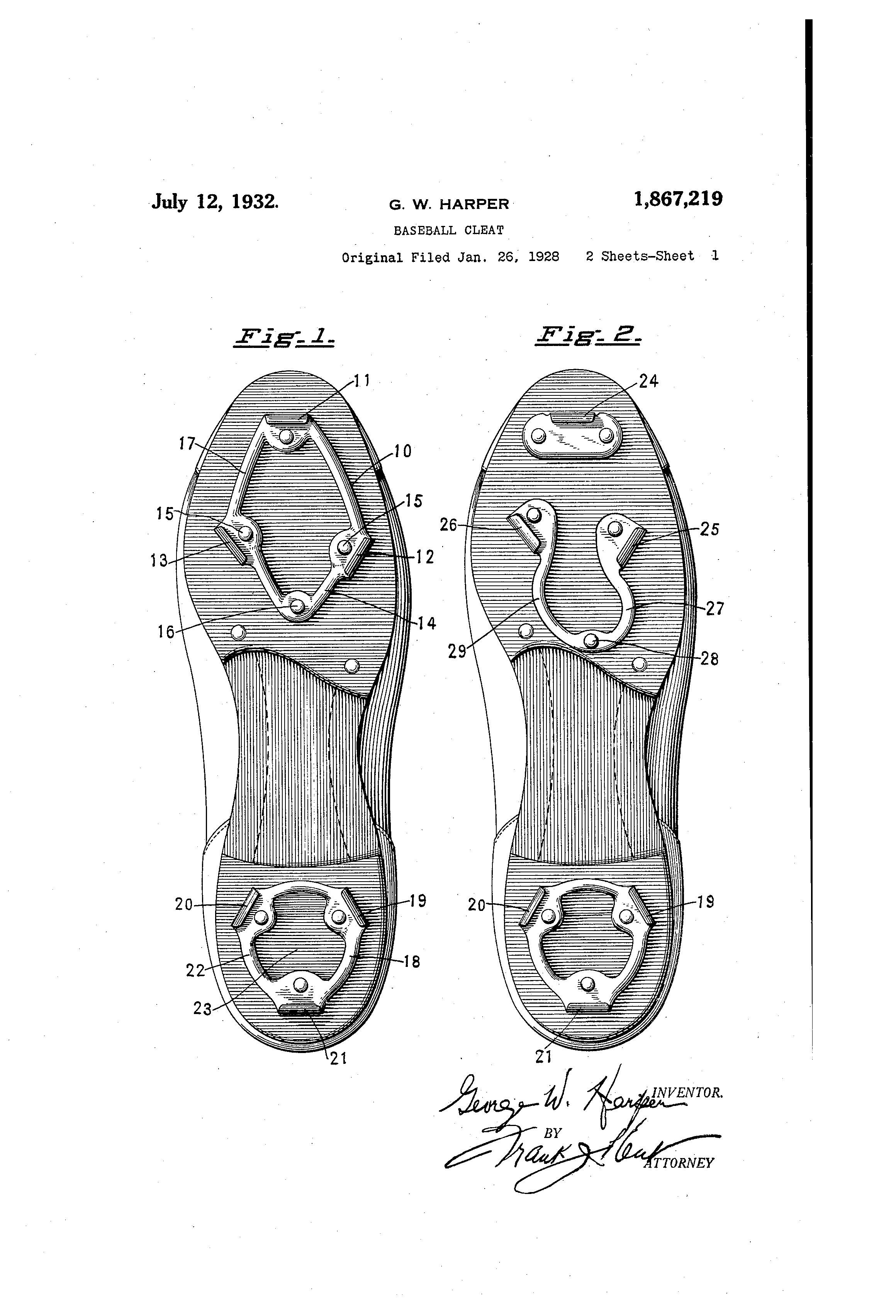 Patent US1867219 Baseball Cleat Google Patents