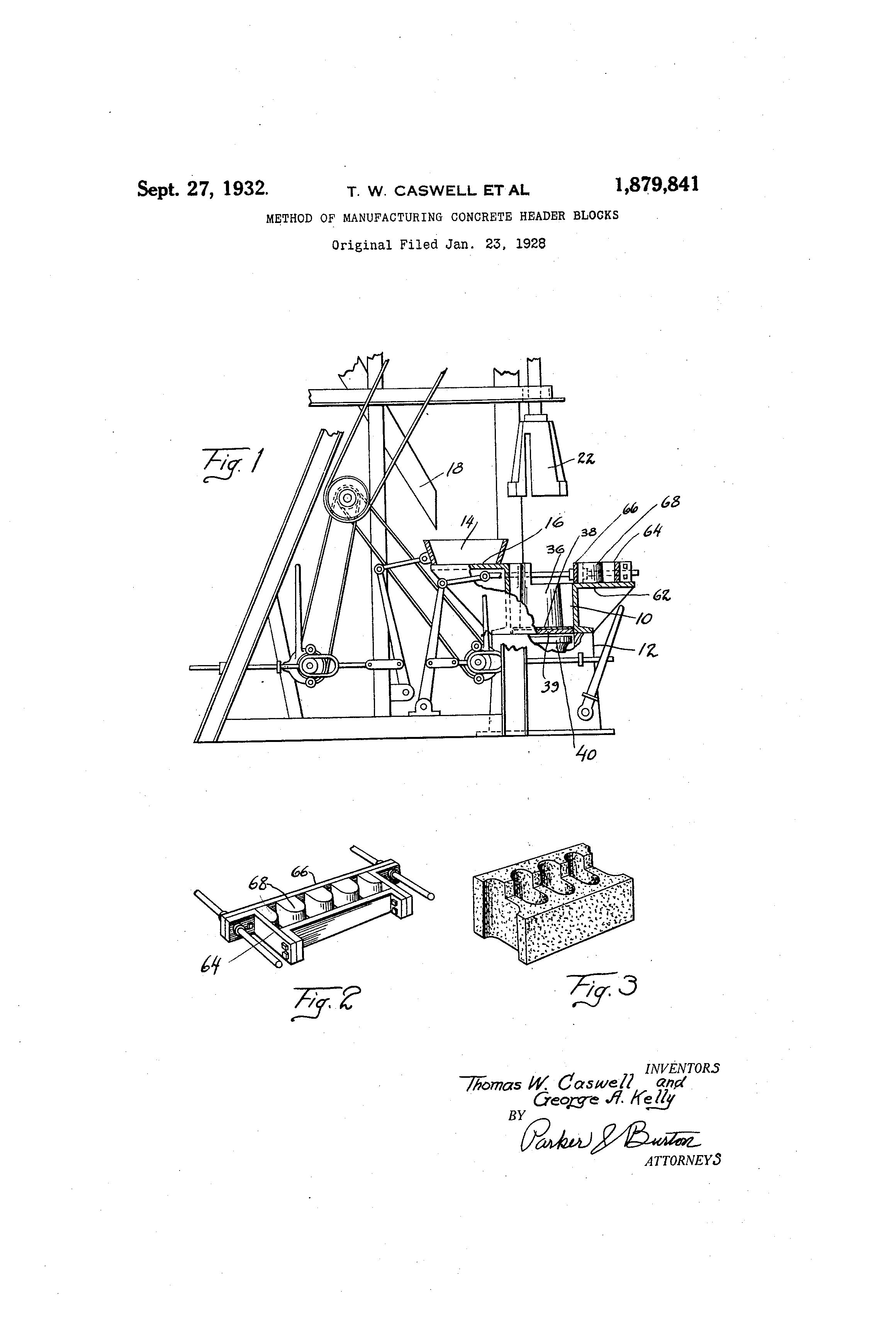 Patent us method of manufacturing concrete header