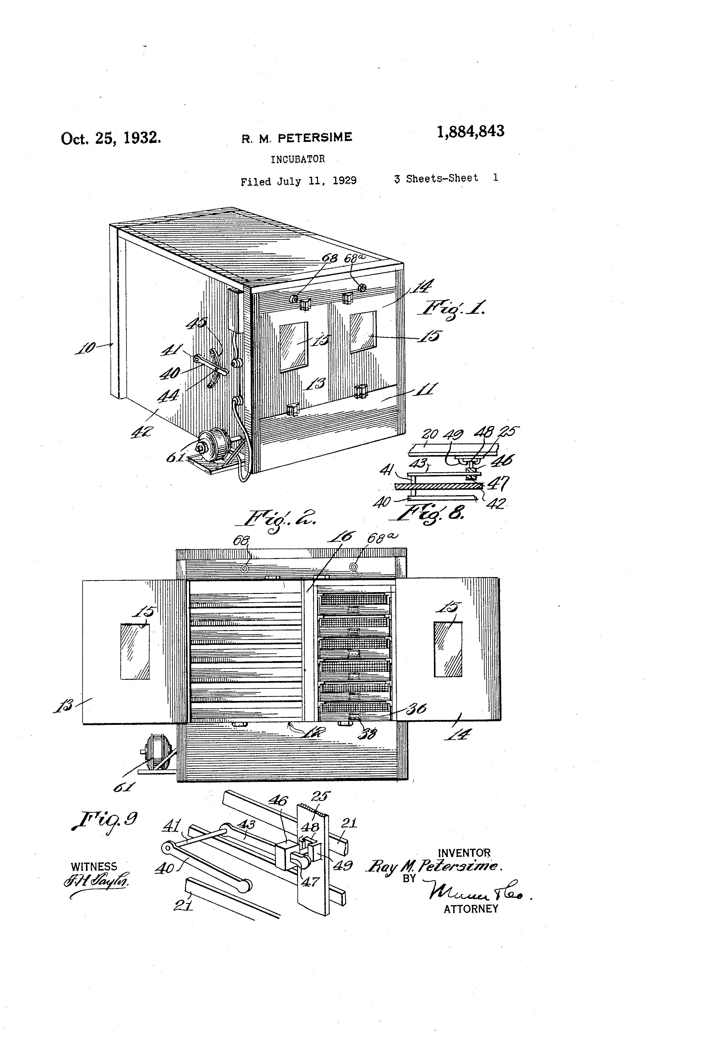 patent us1884843 - incubator