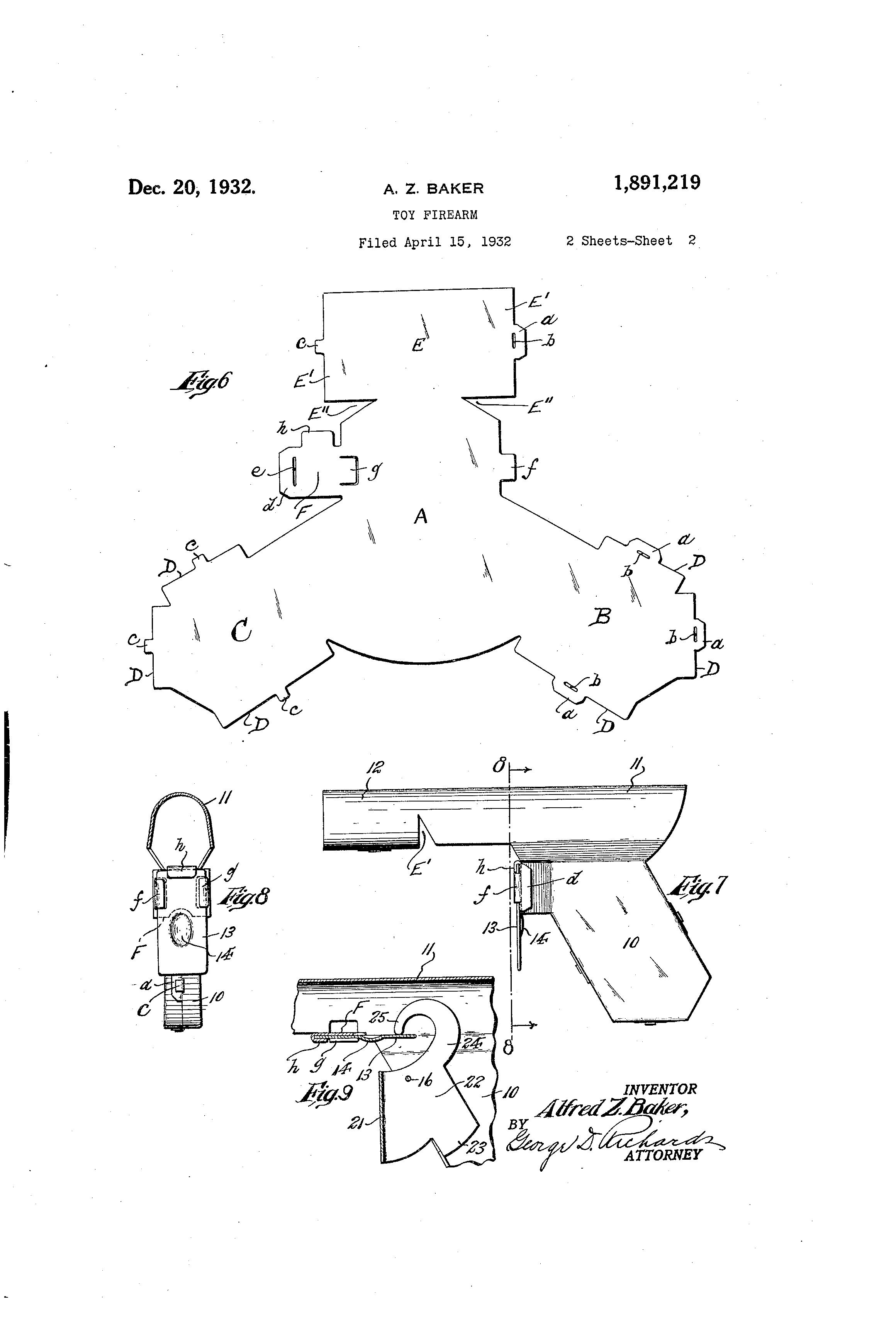 Patent US1891219 - Toy firearm - Google Patents on